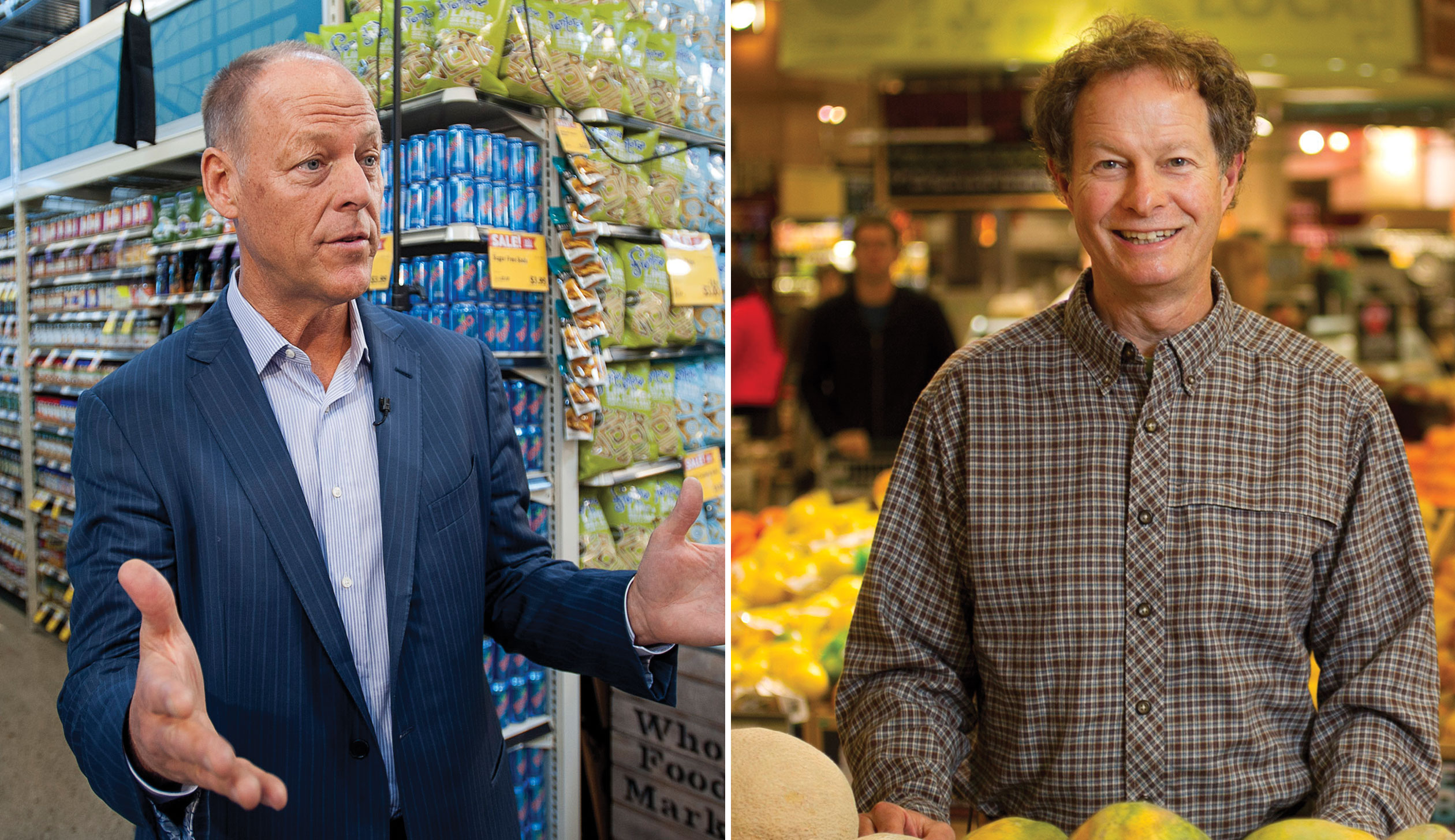 Walter Robb, left, and John Mackey of Whole Foods.