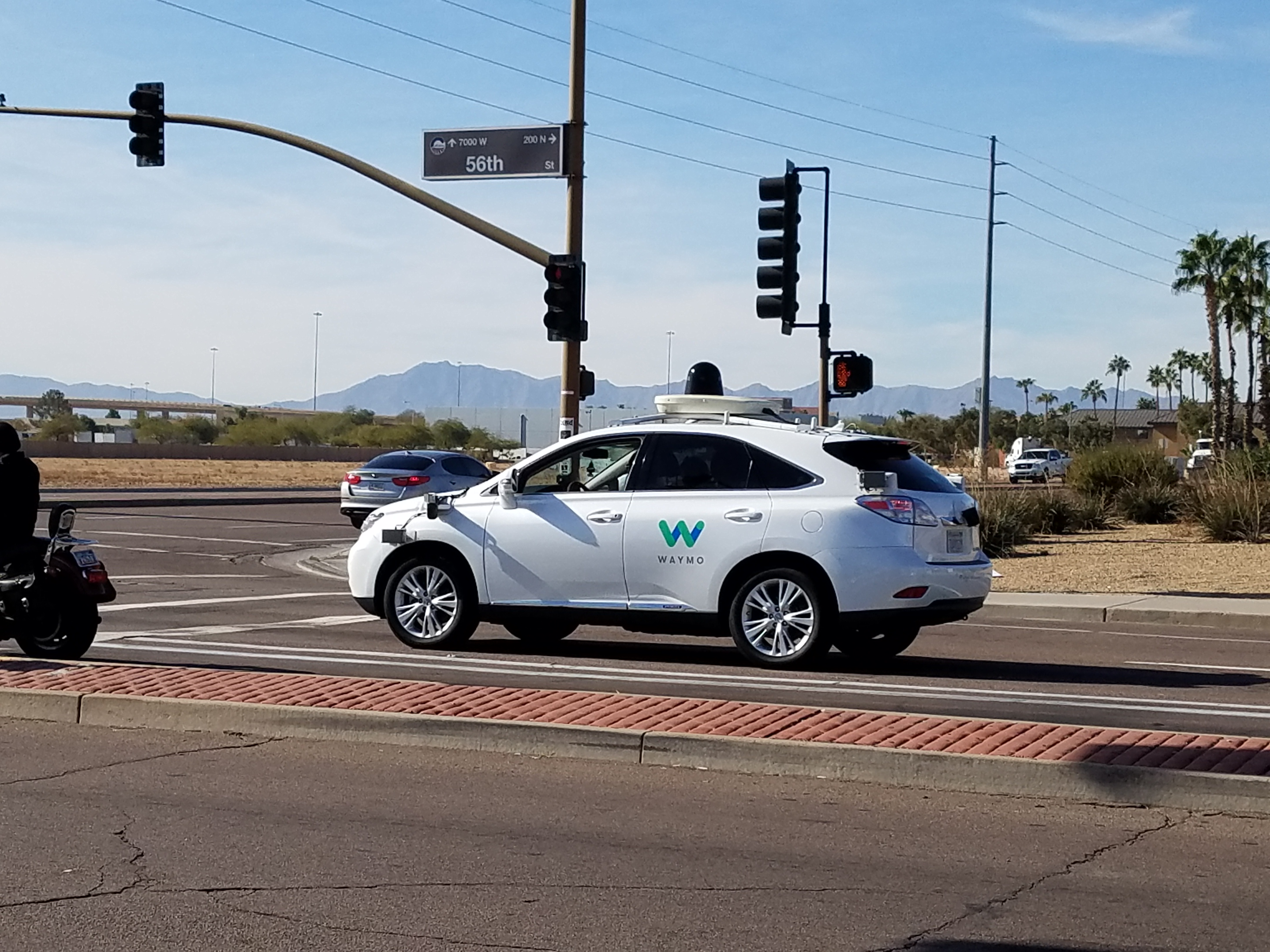 A Waymo self-driving vehicle in Chandler, Ariz.
