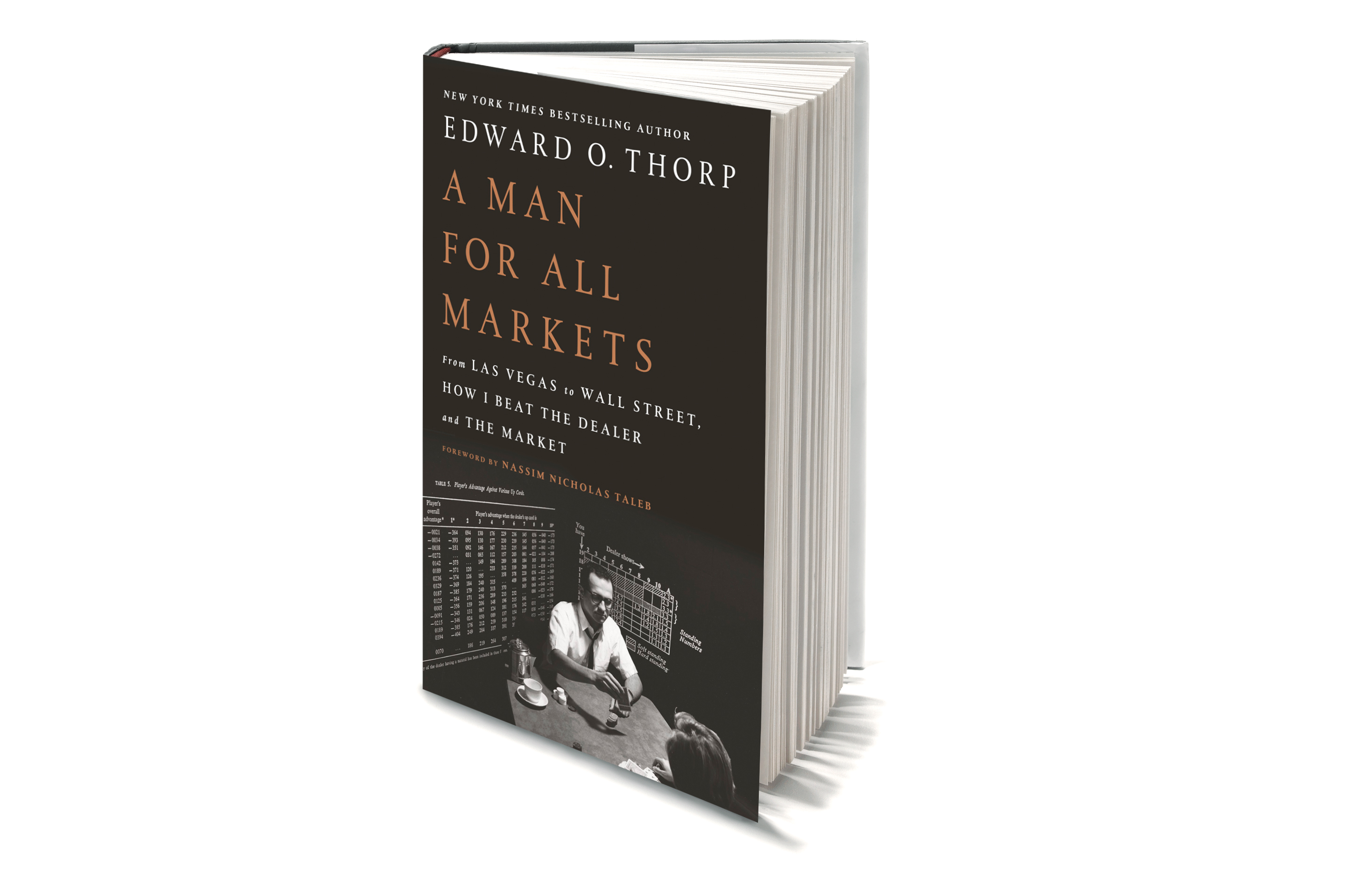 "Edward Thorp's book ""A Man For All Markets: From Las Vegas to Wall Street, How I Beat the Dealer and the Market."""