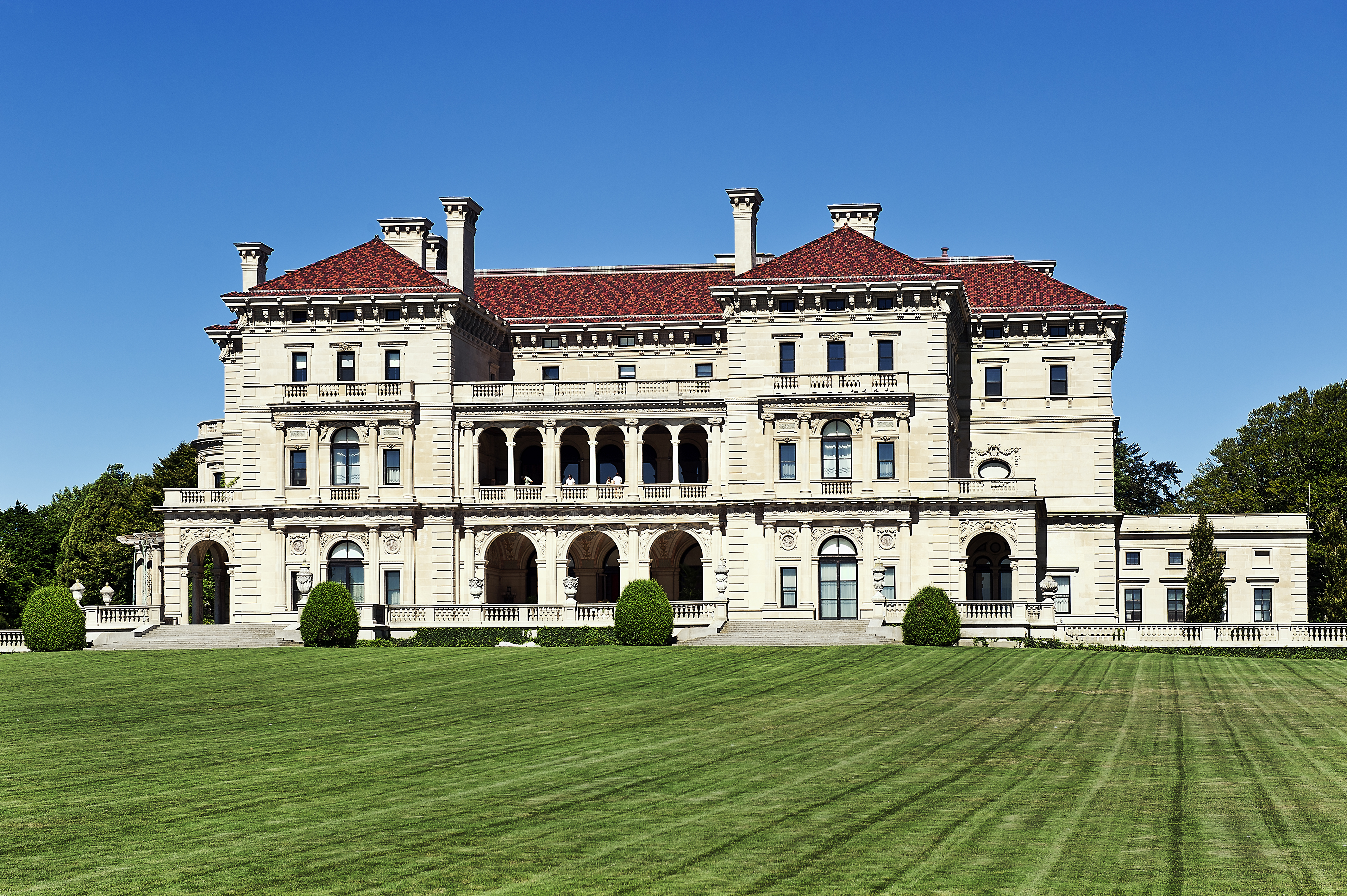 The Breakers mansion located along the Cliff Walk