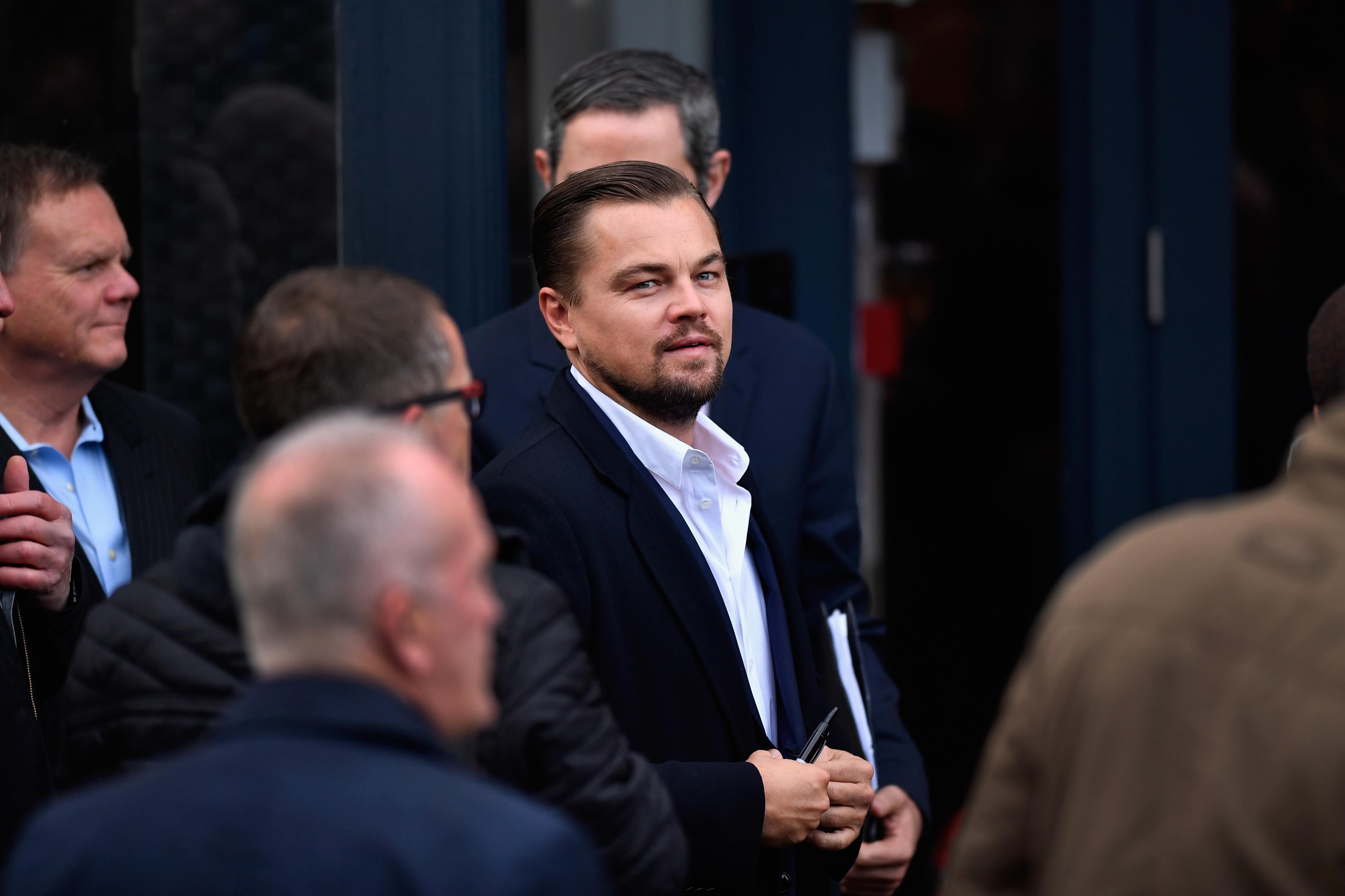 Hollywood actor Leonardo DiCaprio.