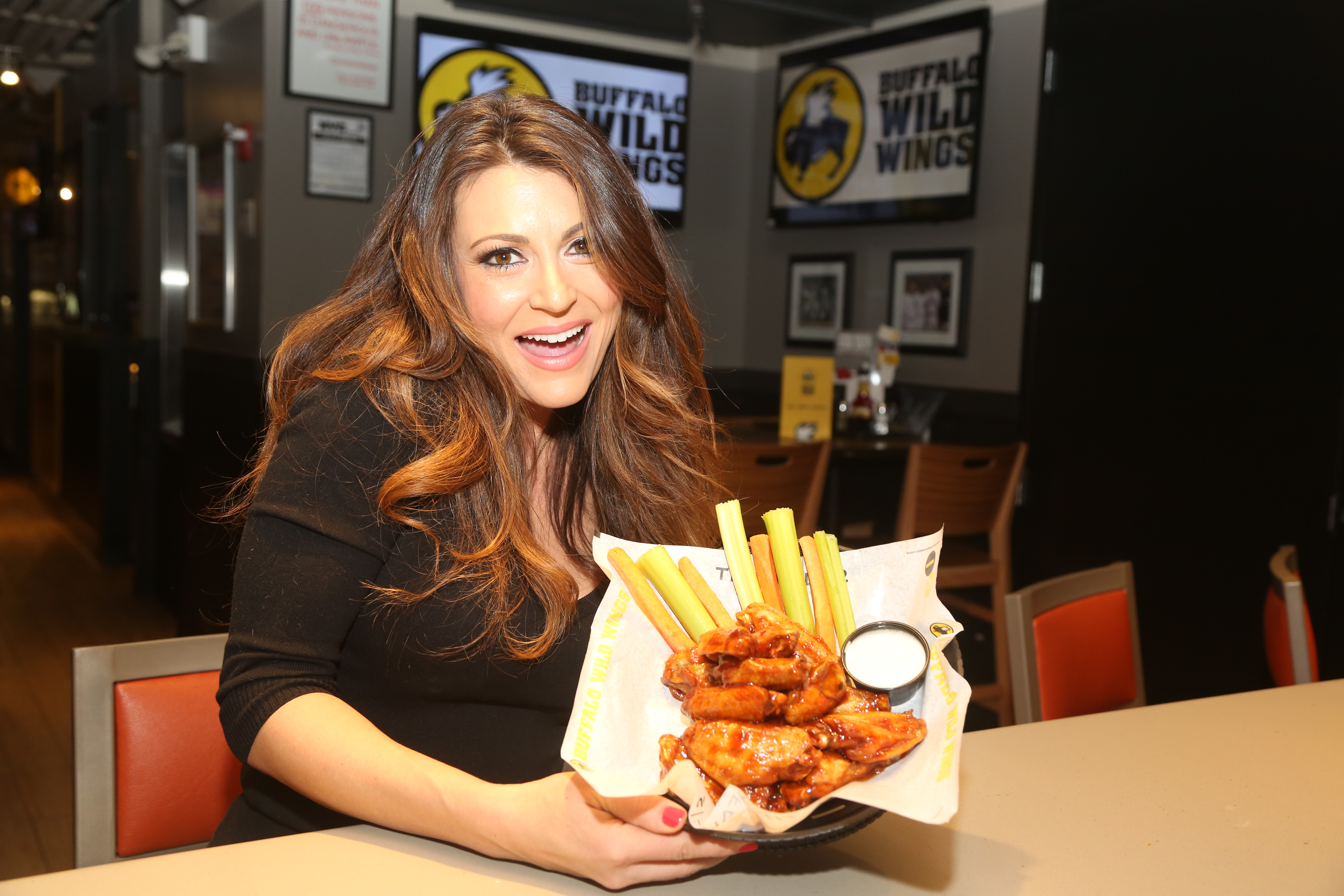 Cerina Vincent Visits Buffalo Wild Wings Times Square