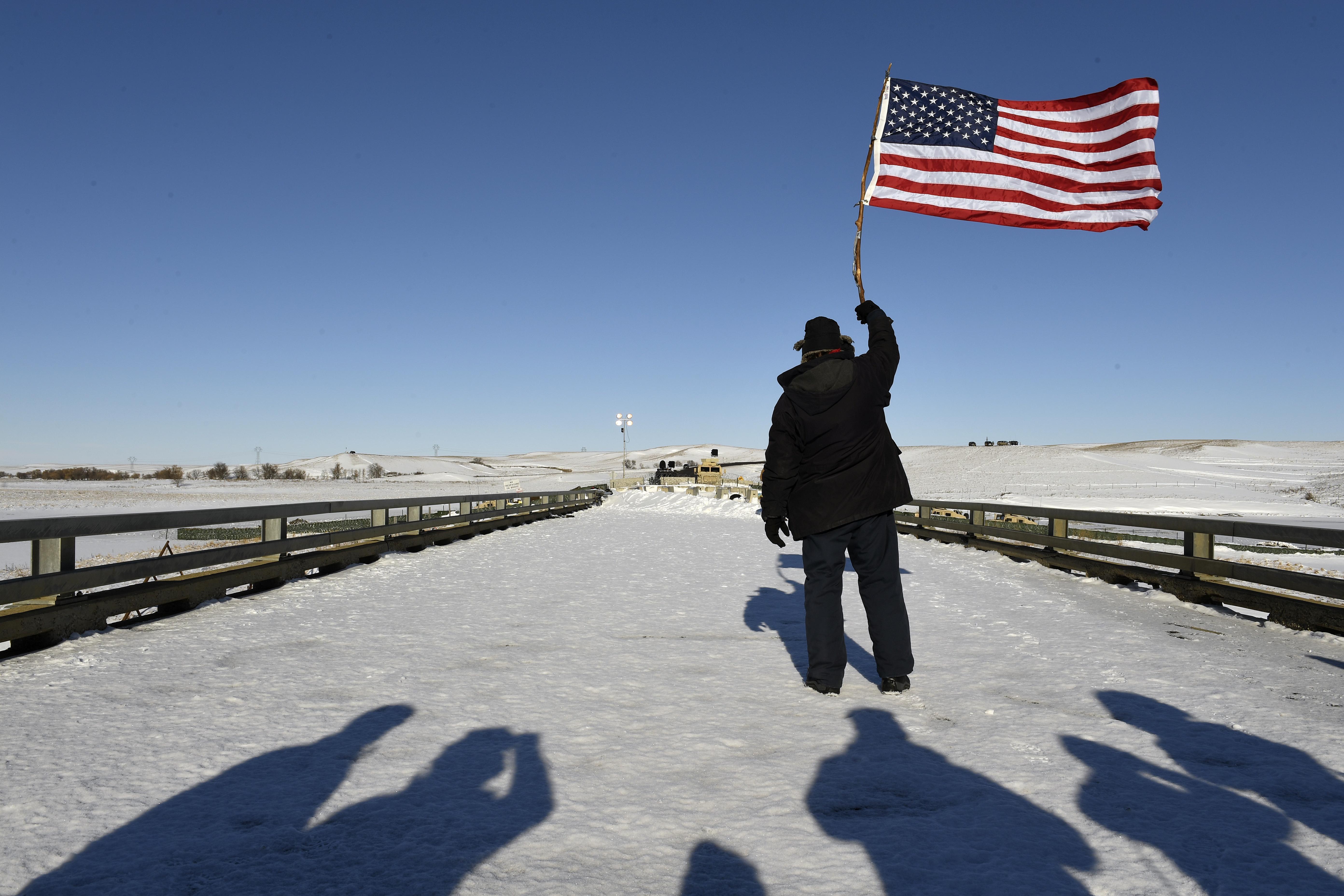 Standing Rock encampment near Cannon Ball, North Dakota