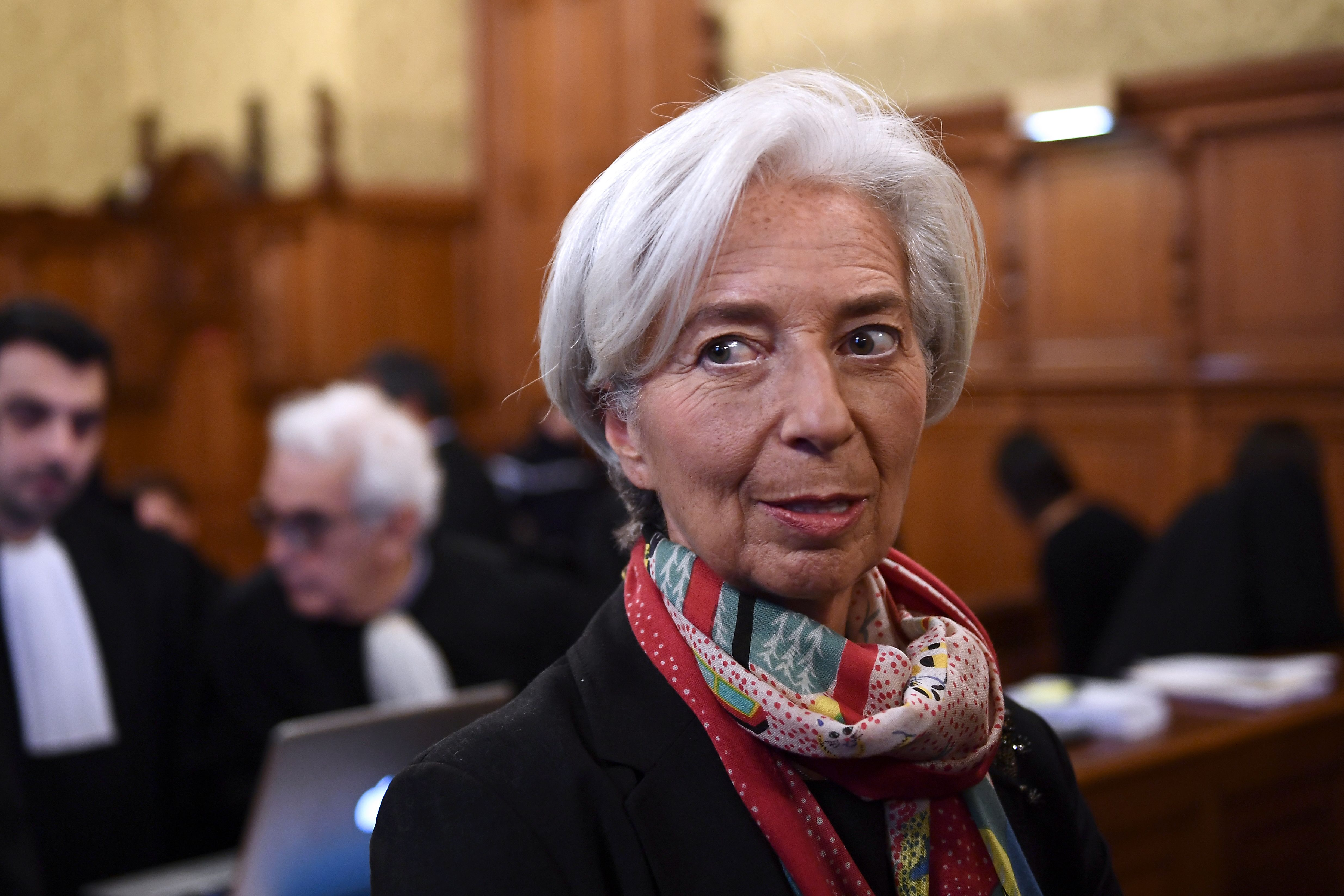 IMF chief Christine Lagarde waits in a courtroom of the Paris courthouse on Dec. 12, 2016.