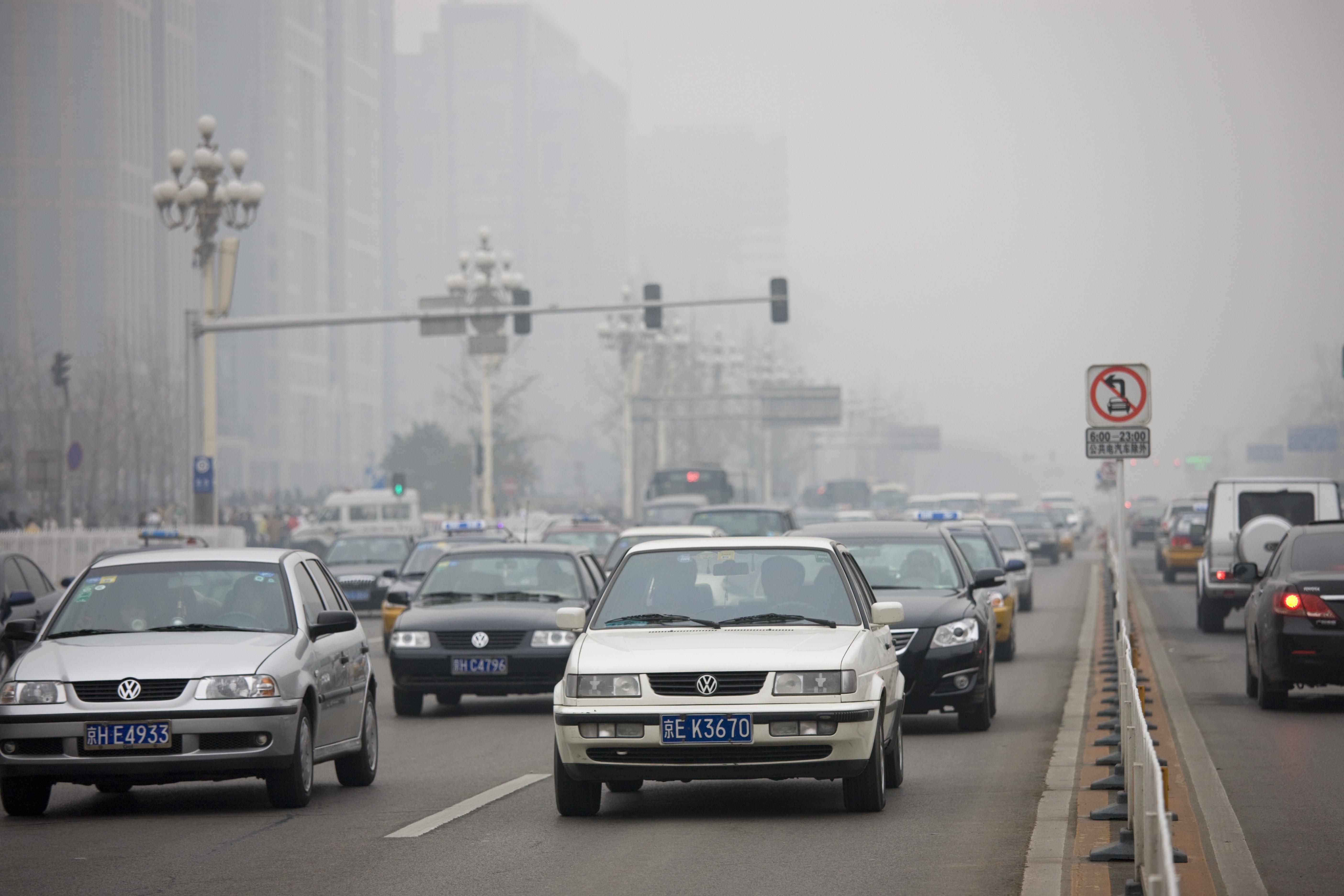 Traffic On Beijing Main Street, China