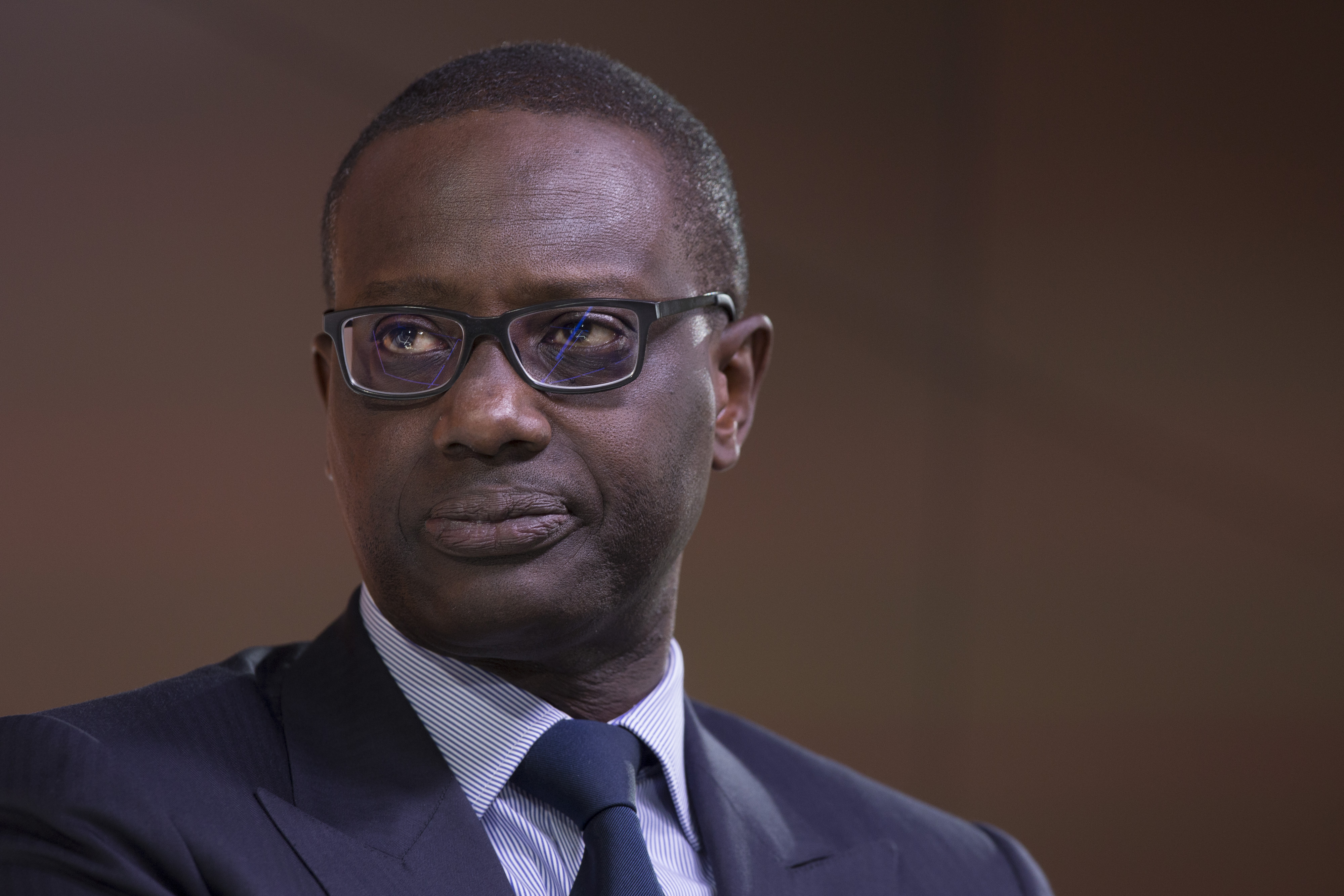Tidjane Thiam, chief executive officer of Credit Suisse Group AG, speaks at the Bloomberg Markets Most Influential Summit in London, U.K., on Wednesday, Sept. 28, 2016.