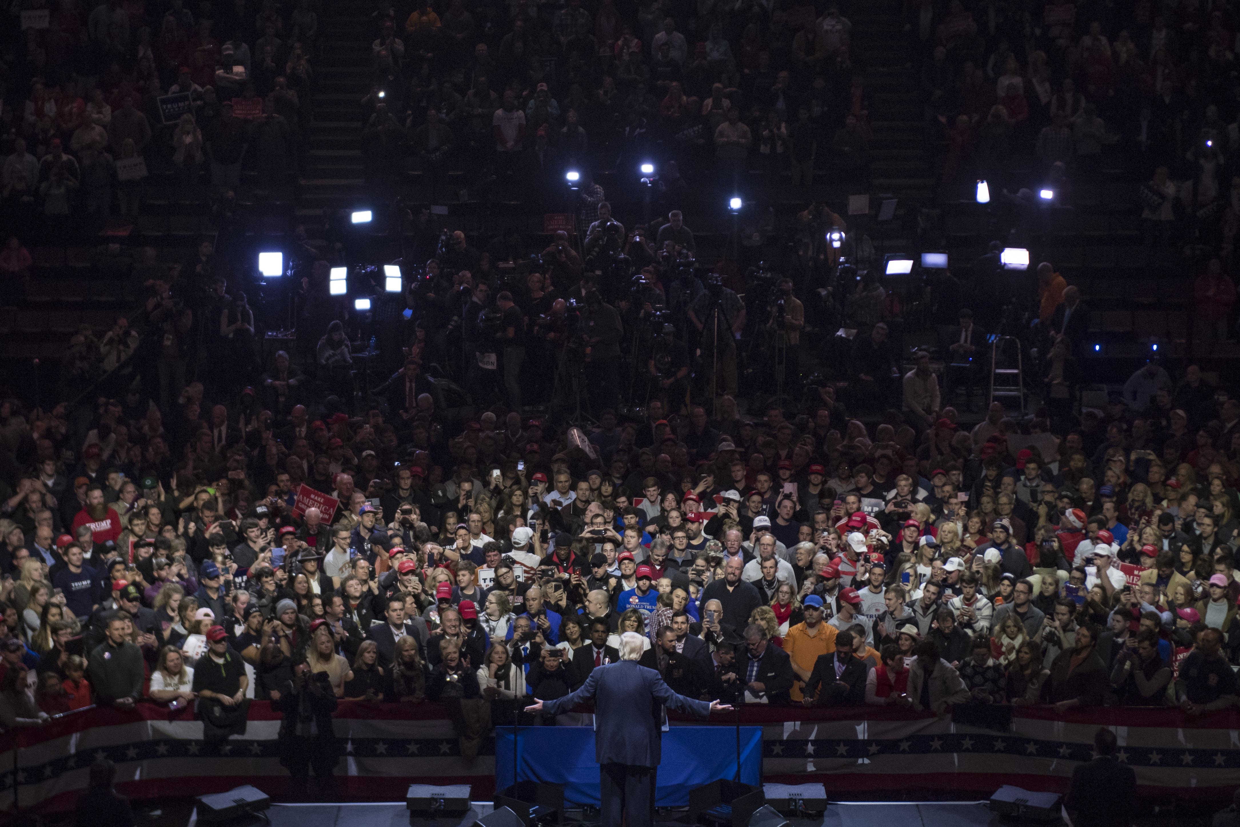 Republican presidential-elect Donald Trump and Vice President-elect Mike Pence in Cincinnati Ohio