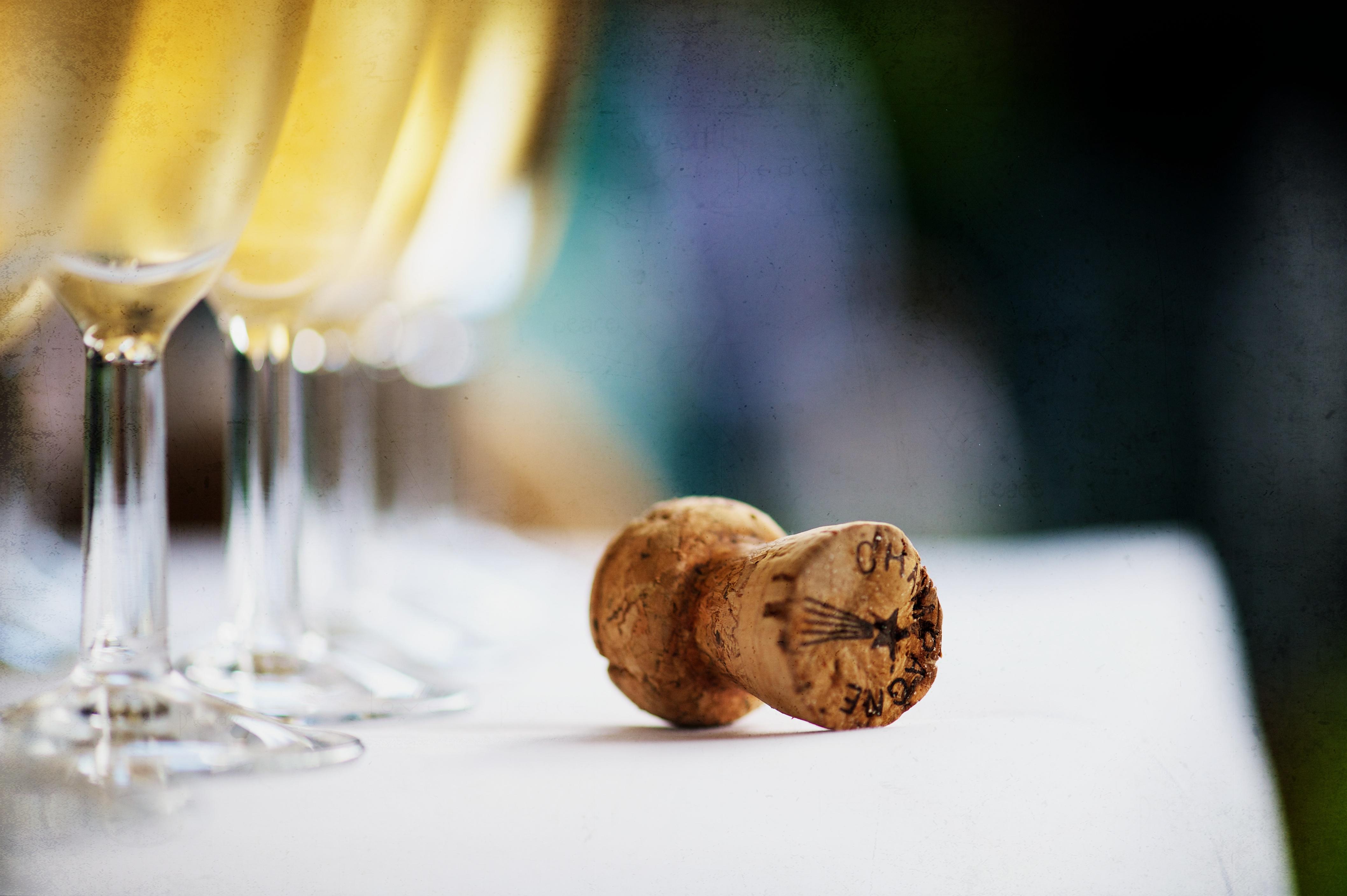 Champagne Cork and Glasses