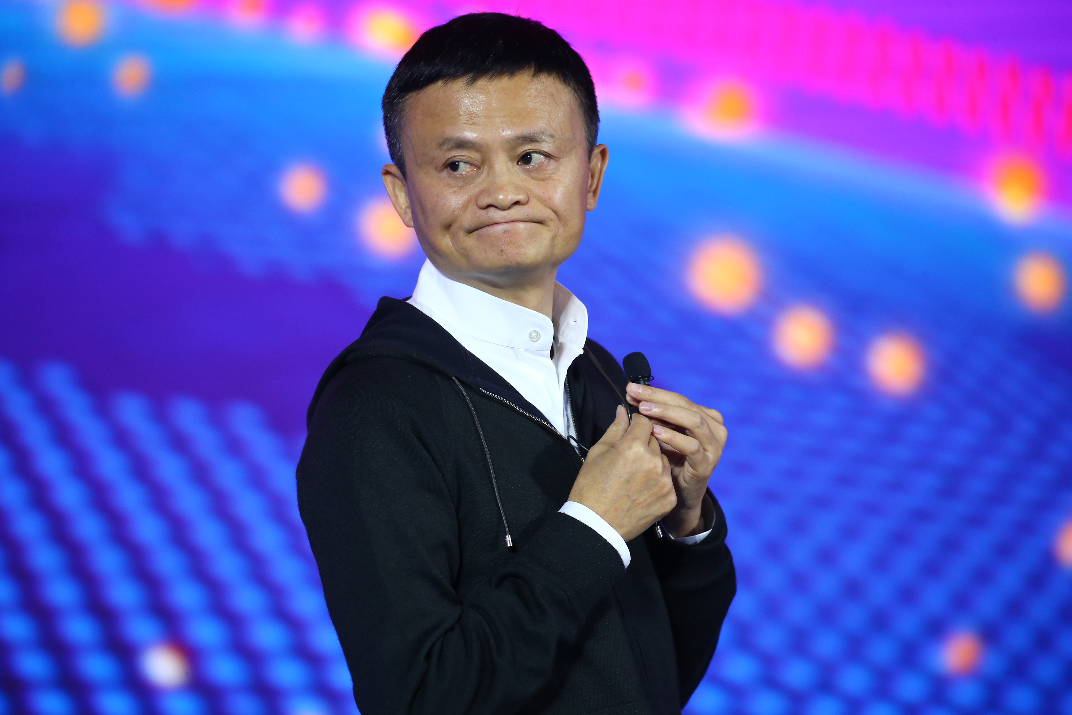 Jack Ma Makes Speech Before The End Of 11.11 Global Shopping Featival In Shenzhen