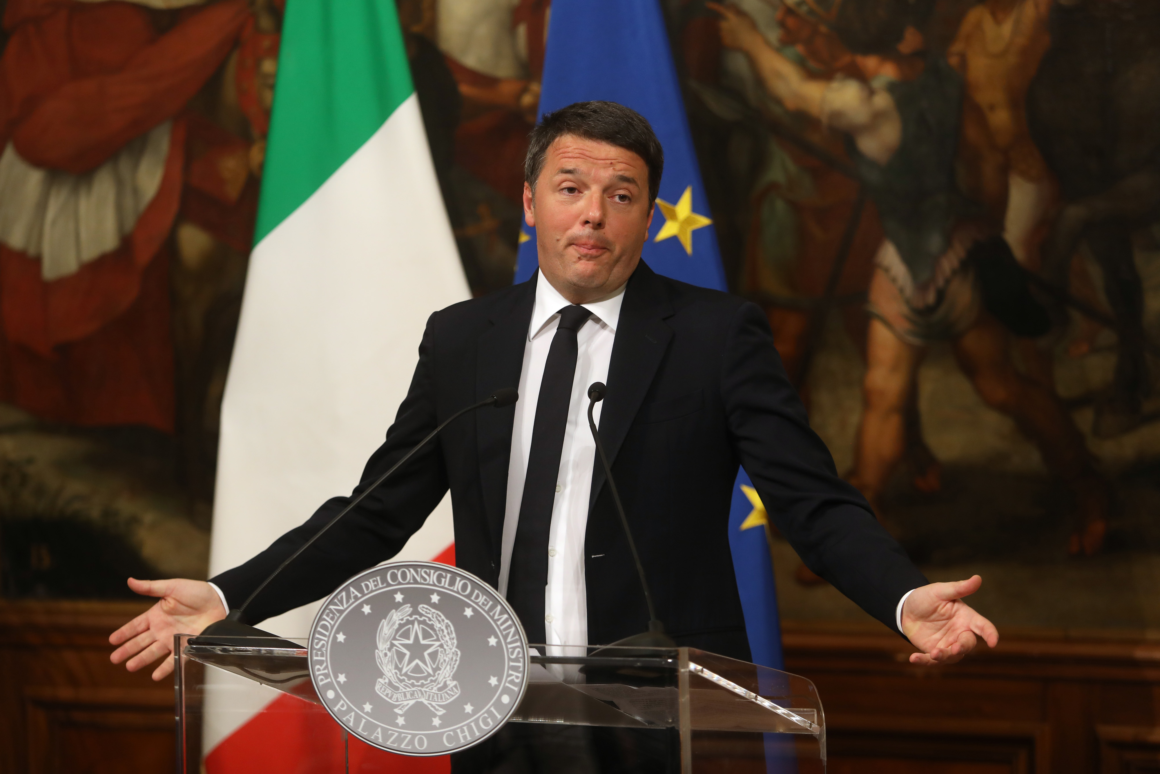 Italians React To Results Of The Constitutional Reform Referendum
