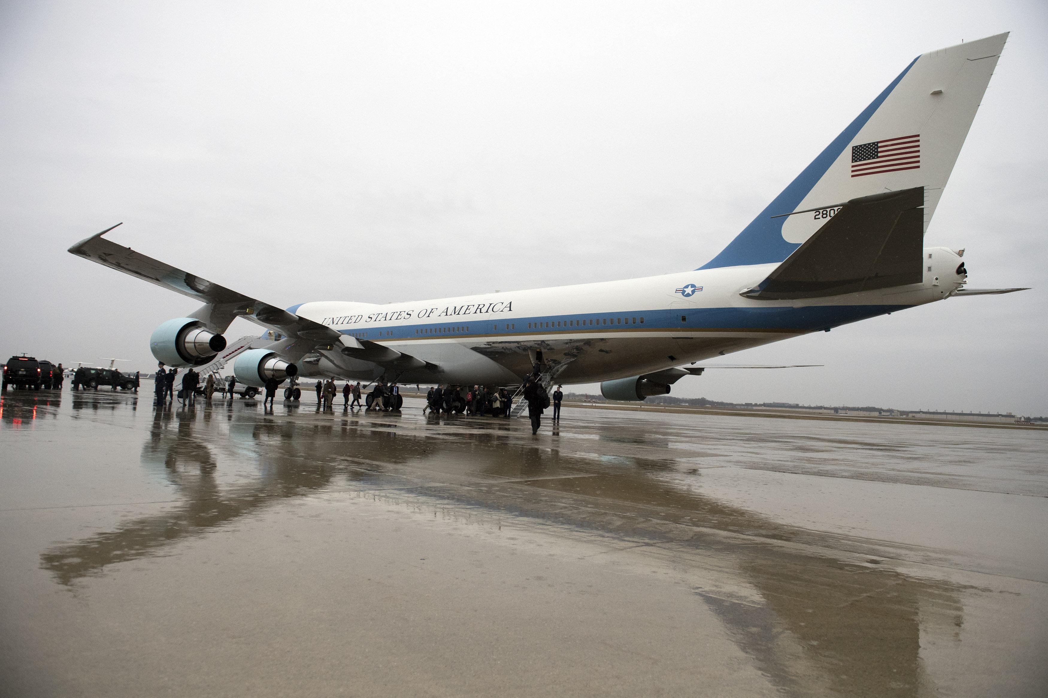 President Obama Departs Joint Base Andrews