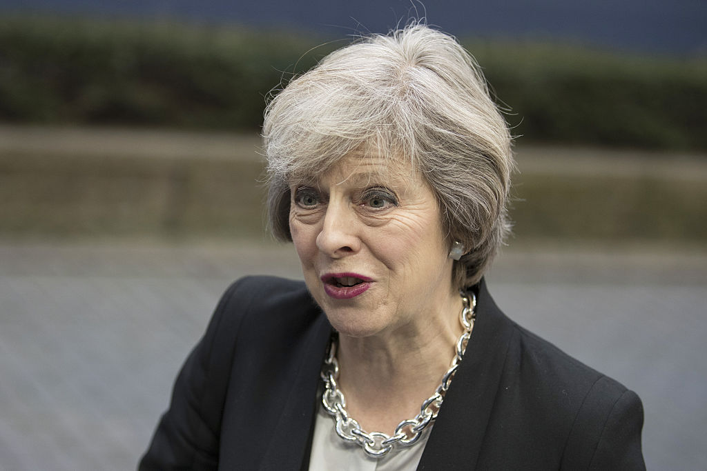 U.K. Prime Minister Theresa May Attends European Union Leaders Summit
