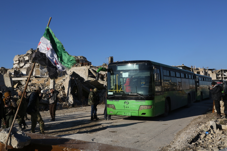 Evacuation of civilians in Aleppo