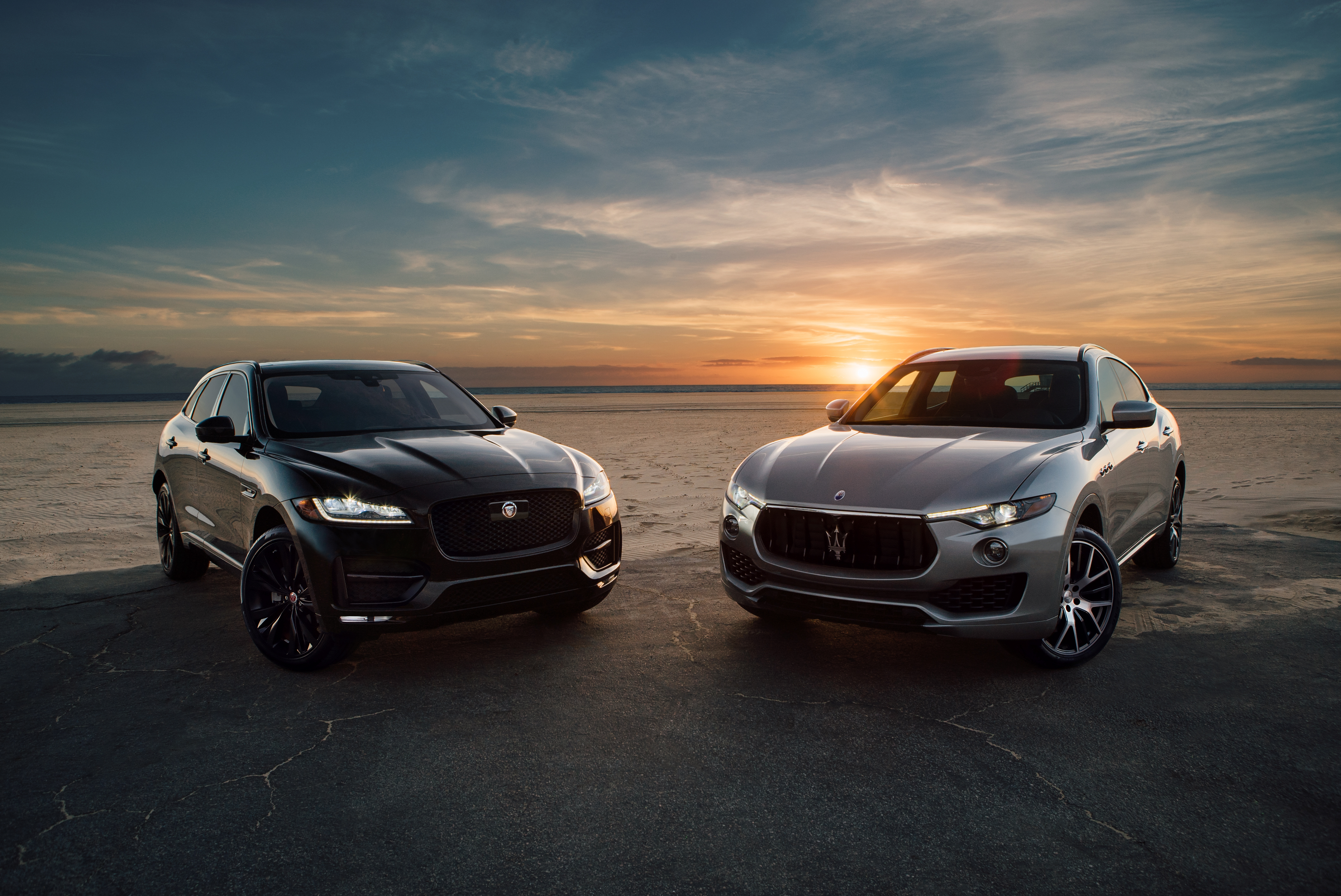 The 2017 Jaguar F-Pace R-Sport and the 2017 Maserati Levante S: Two winning luxury SUVs.