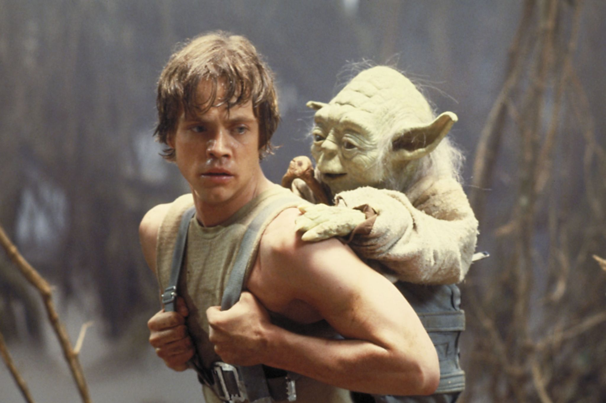 Mark Hamill as Luke Skywalker and Yoda in Star Wars: Episode V - The Empire Strikes Back (1980)