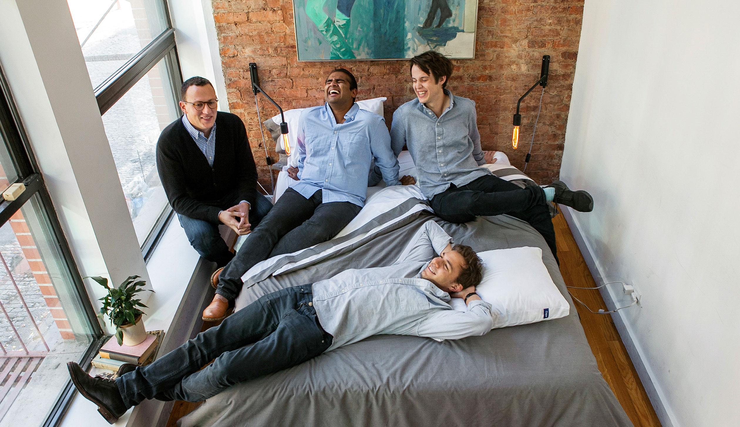 Clockwise from left: Casper CEO Philip Krim, COO Neil Parikh, chief creative officer Luke Sherwin, and CTO Gabriel Flateman.