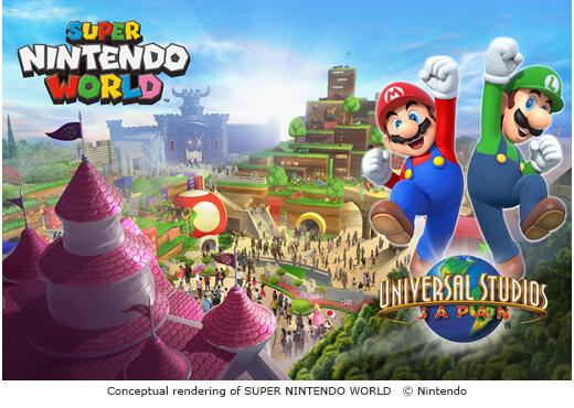 Conceptual art of Super Nintendo World at Universal Studios Japan.