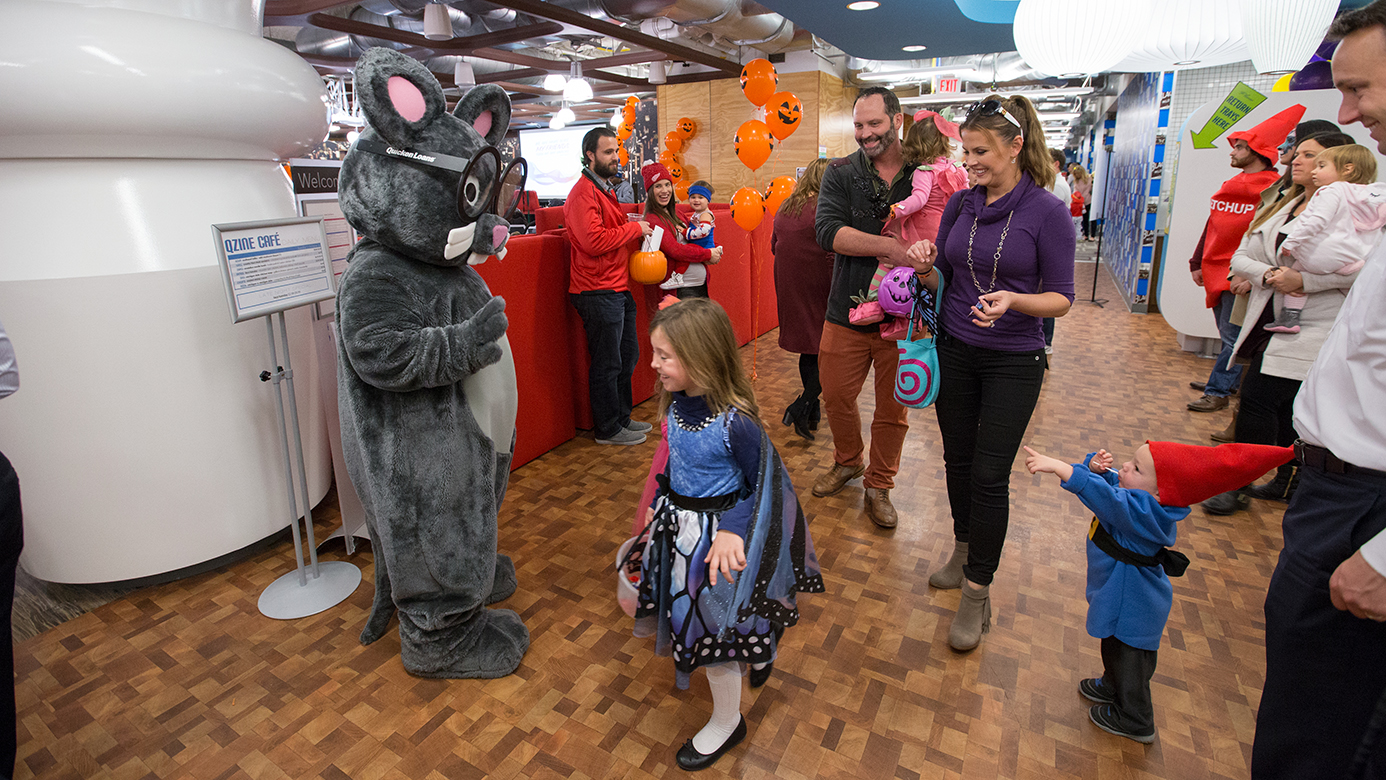 The Banker's Boo Bash took place in the Qube, 2016. Team members and their children trick or treated, enjoyed arts and crafts, and more.