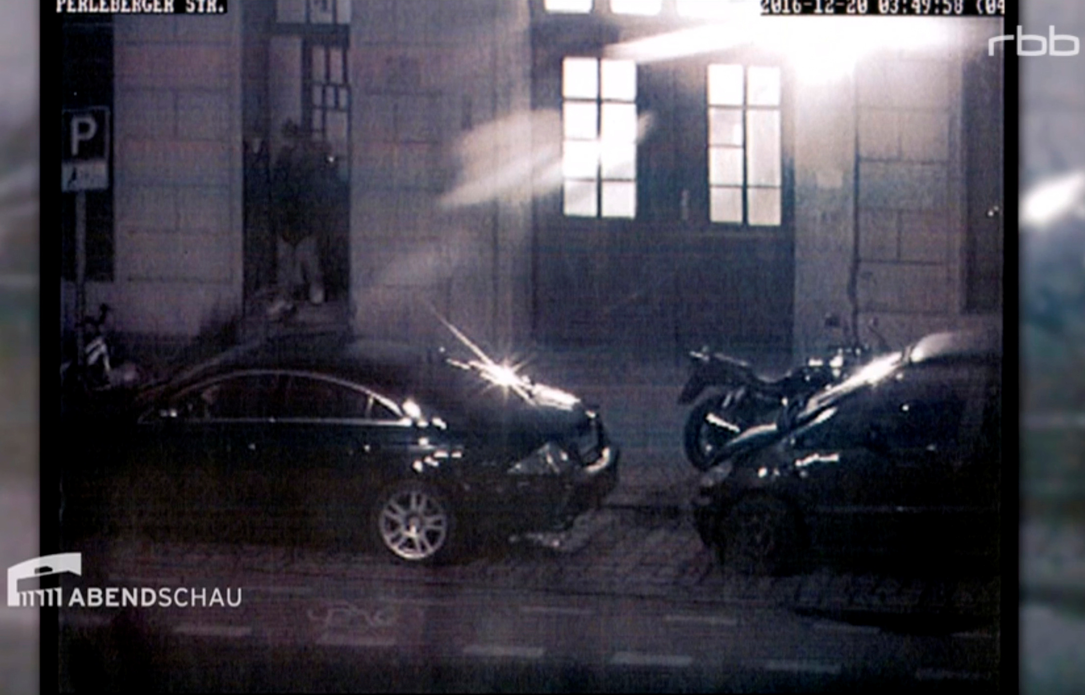 Still image taken from a surveillance camera made available on the RBB Abendschau website shows Anis Amri leaving a Berlin mosque