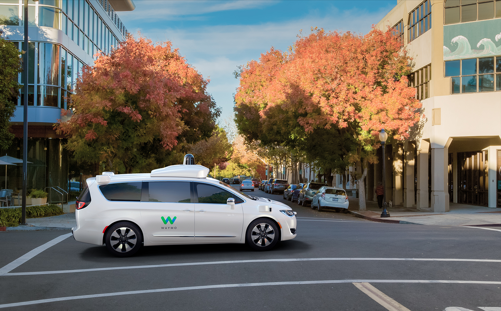 Waymo reveals a fully autonomous Chrysler Pacifica Hybrid minivan.