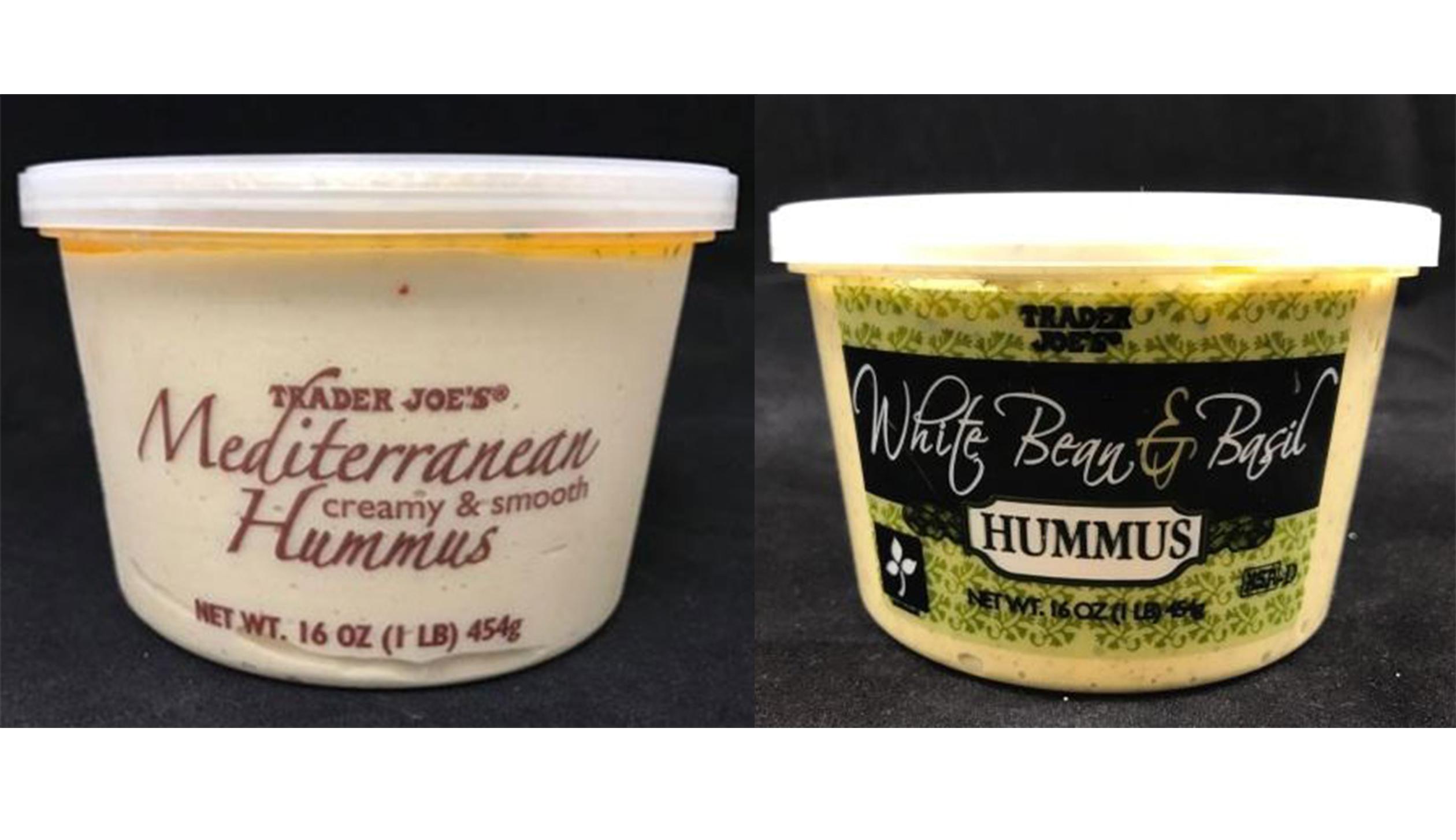 Trader Joe's recalls Mediterranean and White Bean & Basil hummus dips.