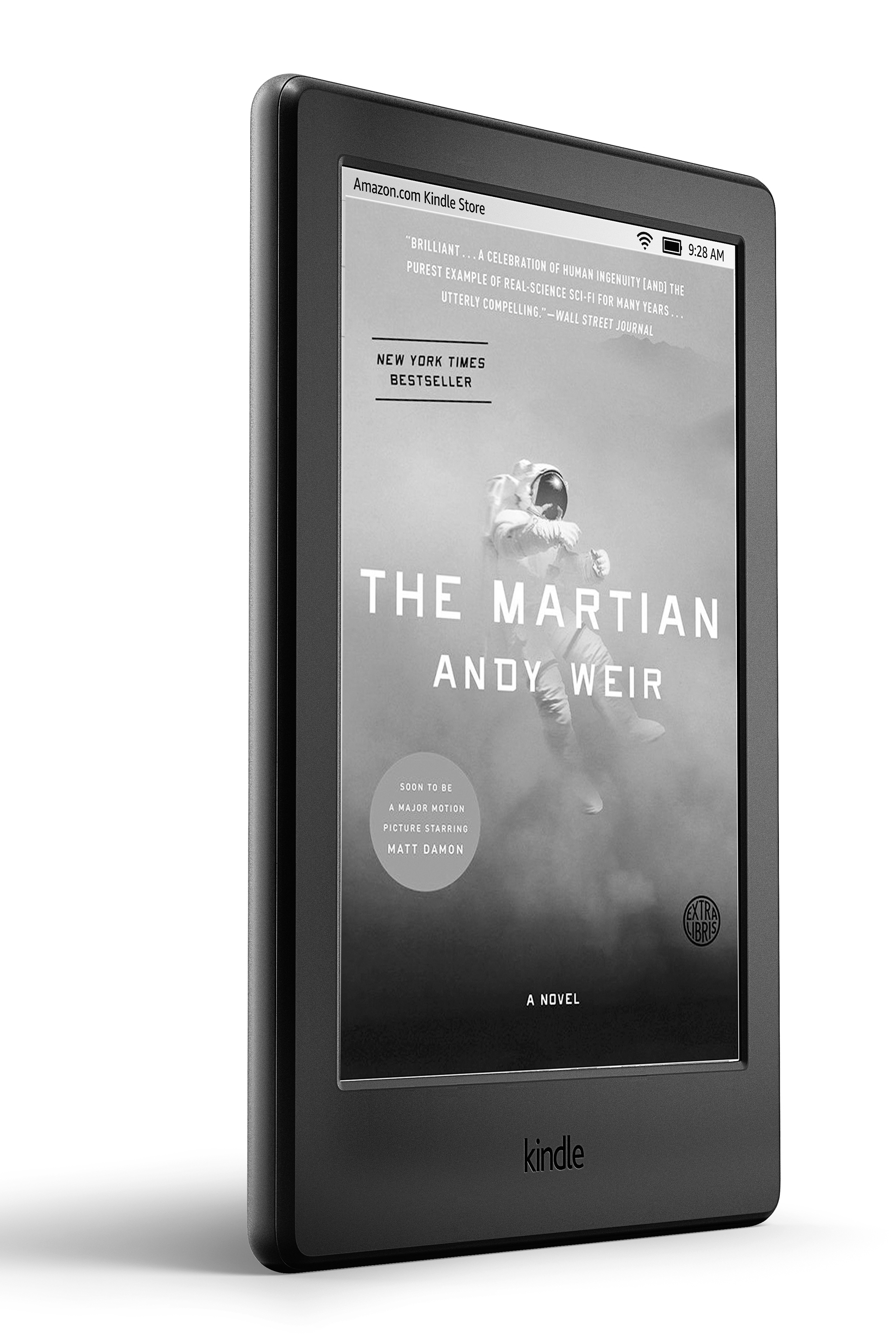 The Martian book on Kindle device.