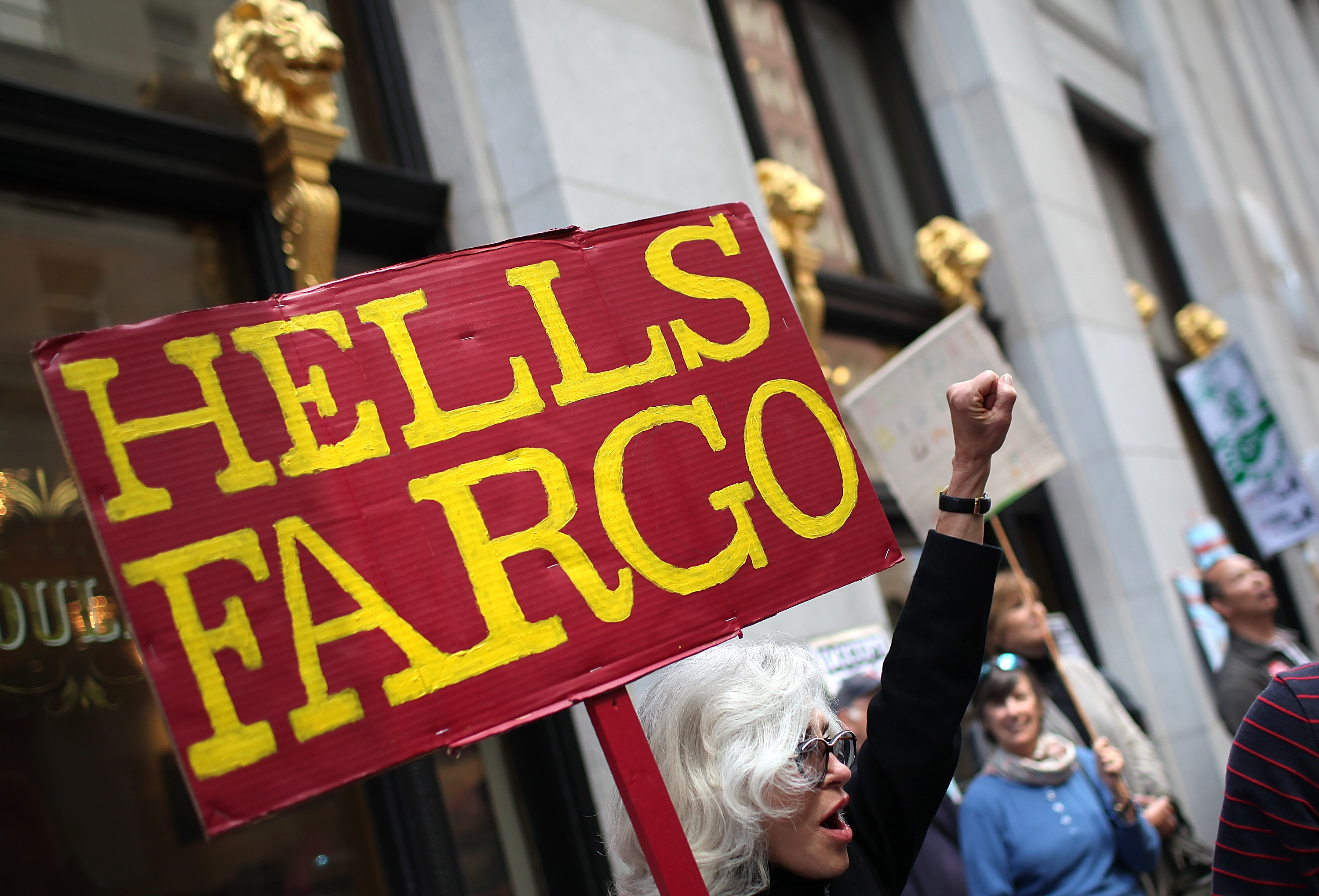 Activists Rally At Wells Fargo Shareholders Meeting In San Francisco