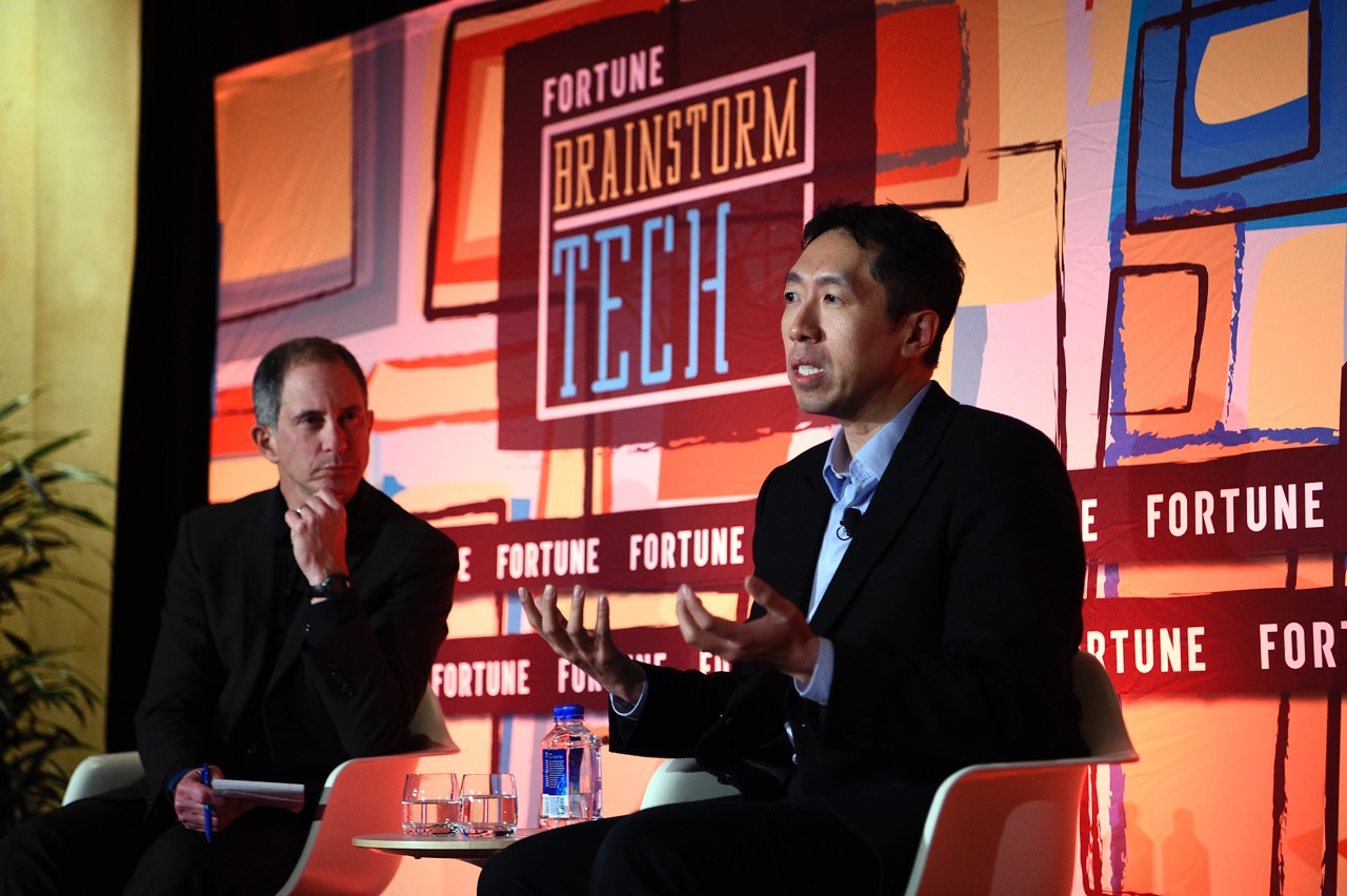 Andrew Ng of Baidu at Fortune Brainstorm Tech Las Vegas 2017