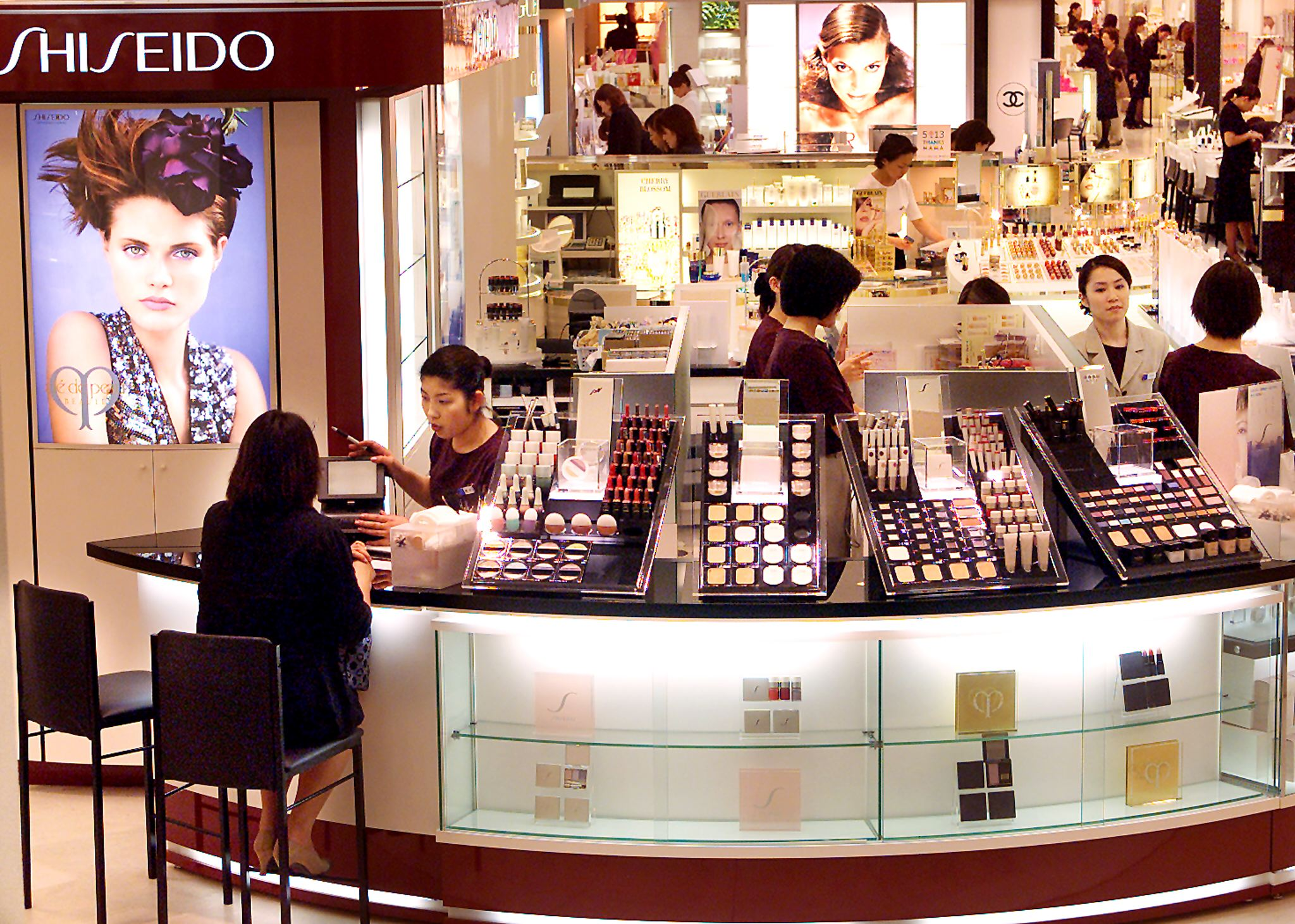 Japan's cosmetics giant Shiseido employees tend to
