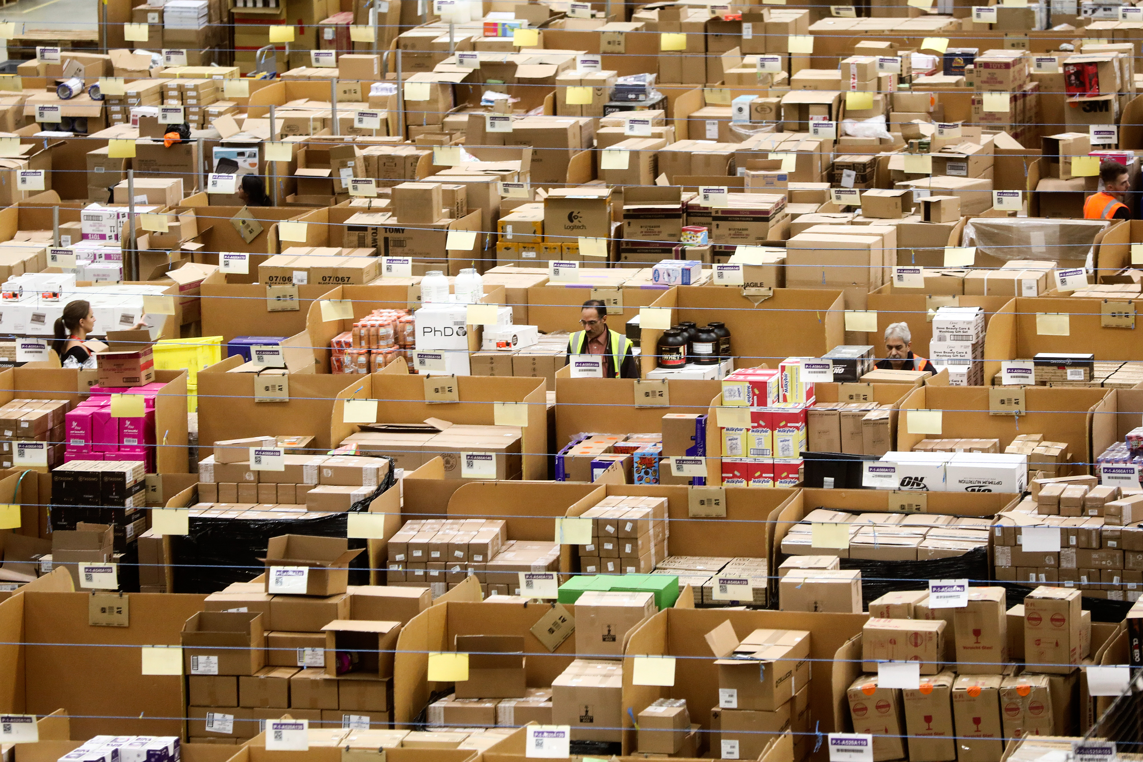 Inside An Amazon.com Inc Fulfilment Center As It Prepares For Black Friday