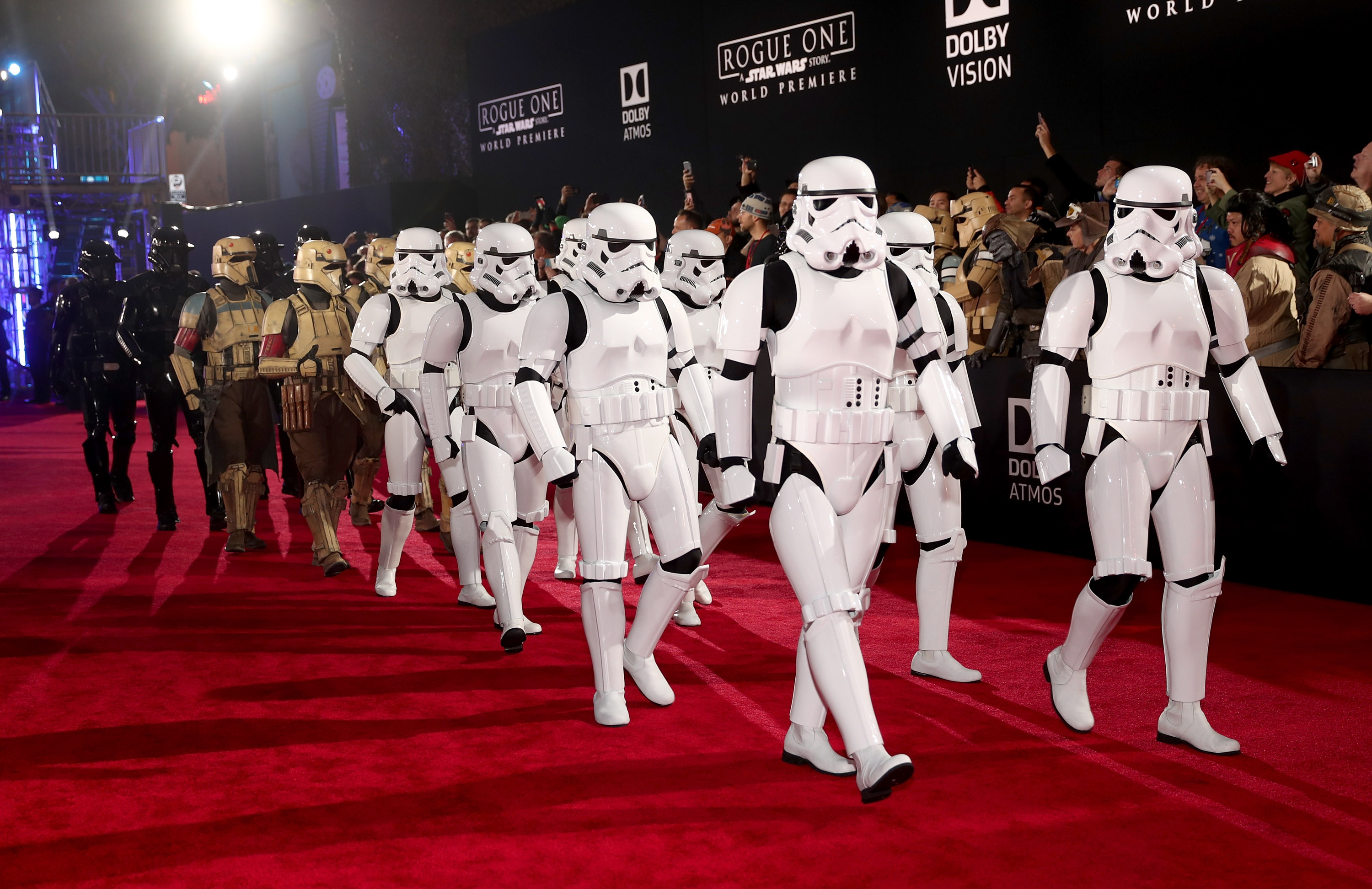 "Premiere Of Walt Disney Pictures And Lucasfilm's ""Rogue One: A Star Wars Story"" - Red Carpet"