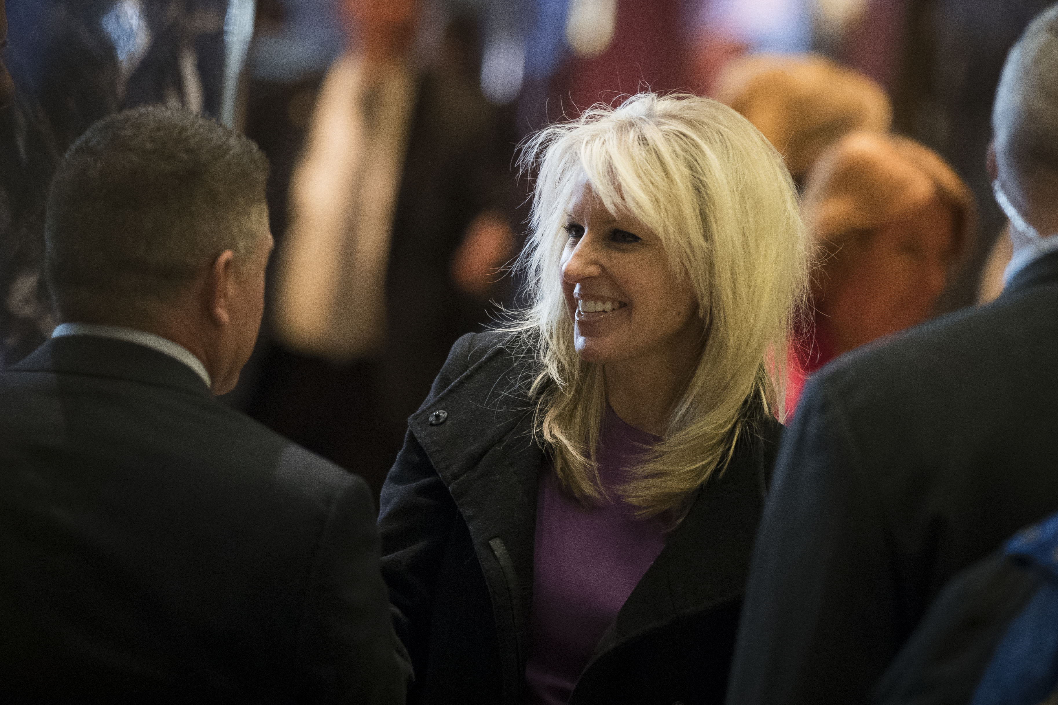 Monica Crowley departs Trump Tower on December 15, 2016 in New York City.