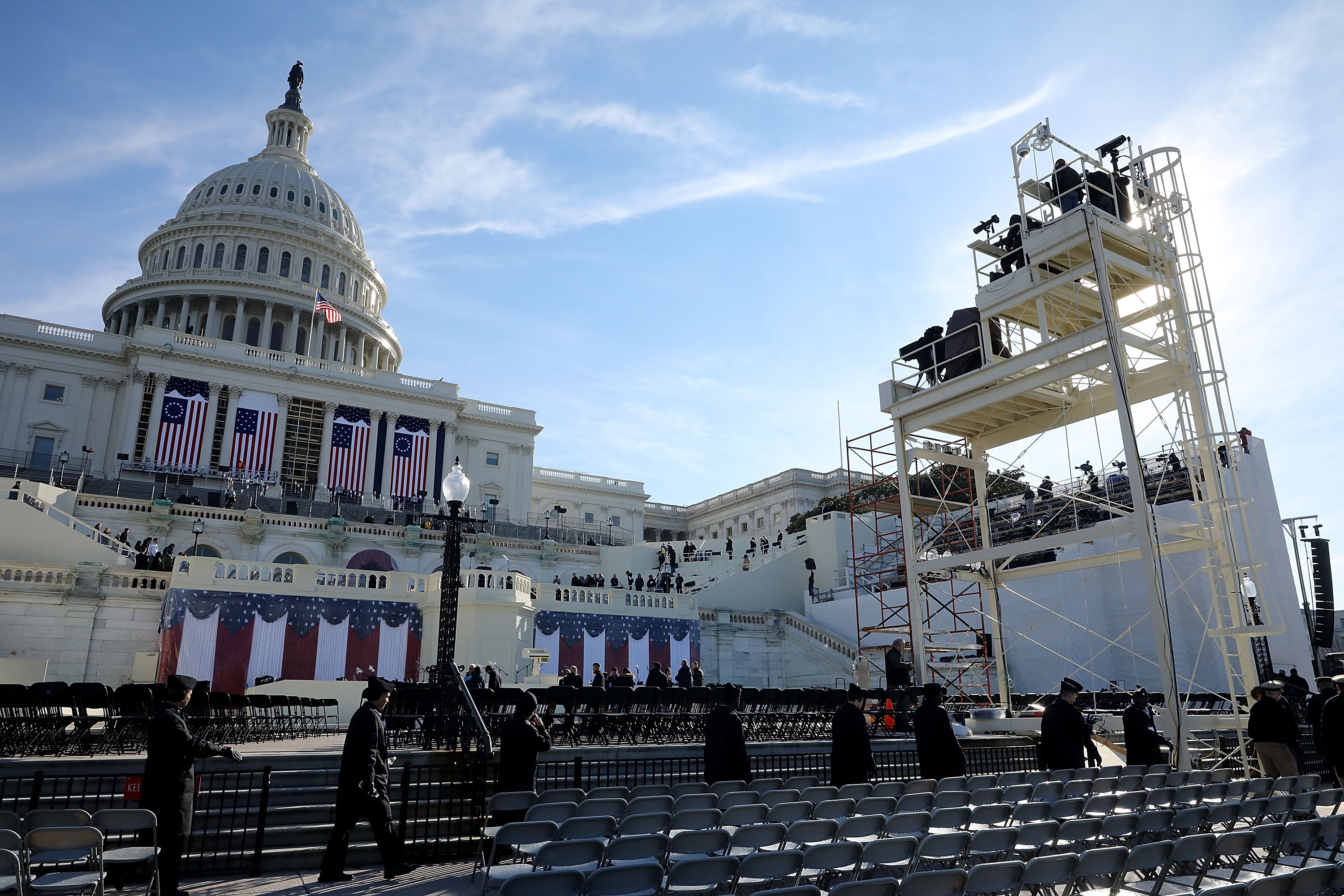 Rehearsal For Presidential Inauguration Held In Washington DC
