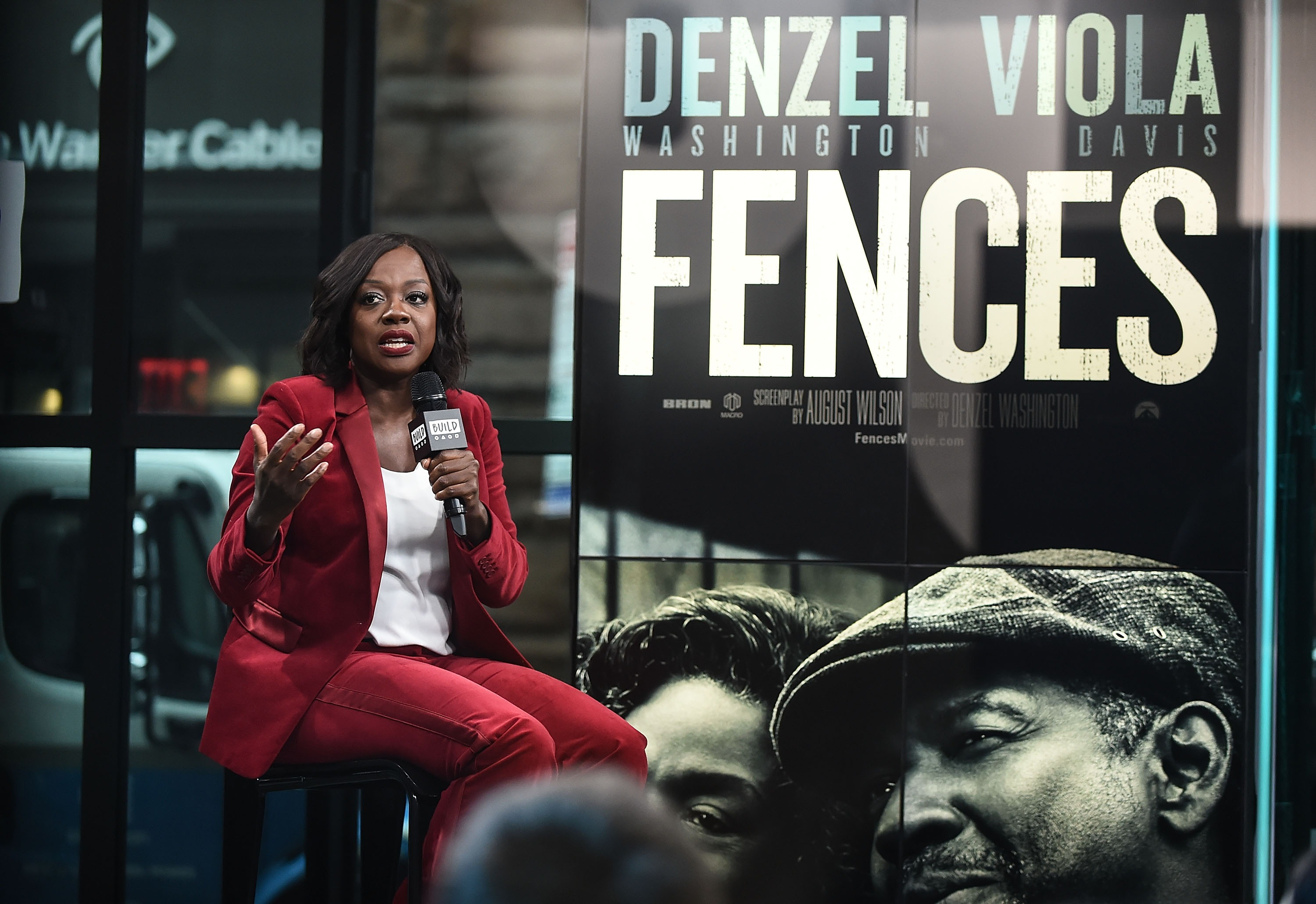 Actress Viola Davis attends the Build Series to discuss the film 'Fences' at Build Studio on January 17, 2017 in New York City.