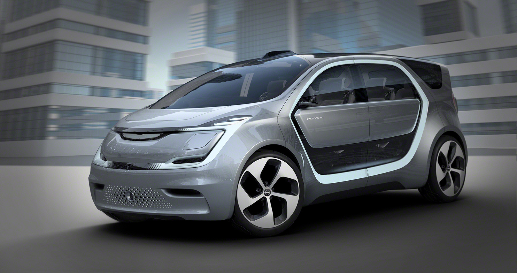 Fiat Chrysler Automobiles reveals its Chrysler Portal concept vehicle at CES in Las Vegas on Tuesday, January 3, 2017.