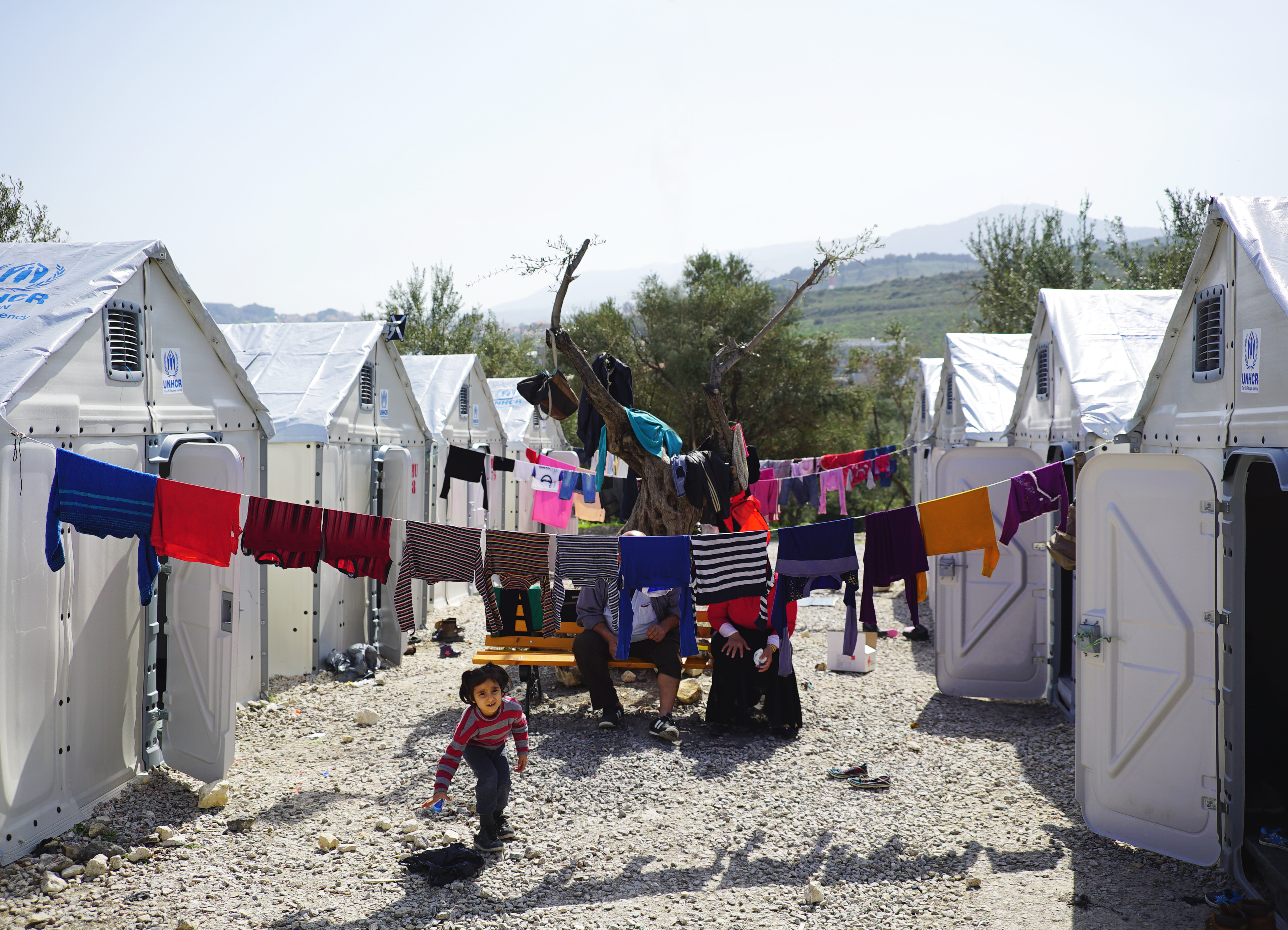 More than 150 Better Shelter units have been installed by UNHCR and implementing partners in the Kara Tepe site in Lesvos where they function as temporary accommodation, offices and medical aid clinics.