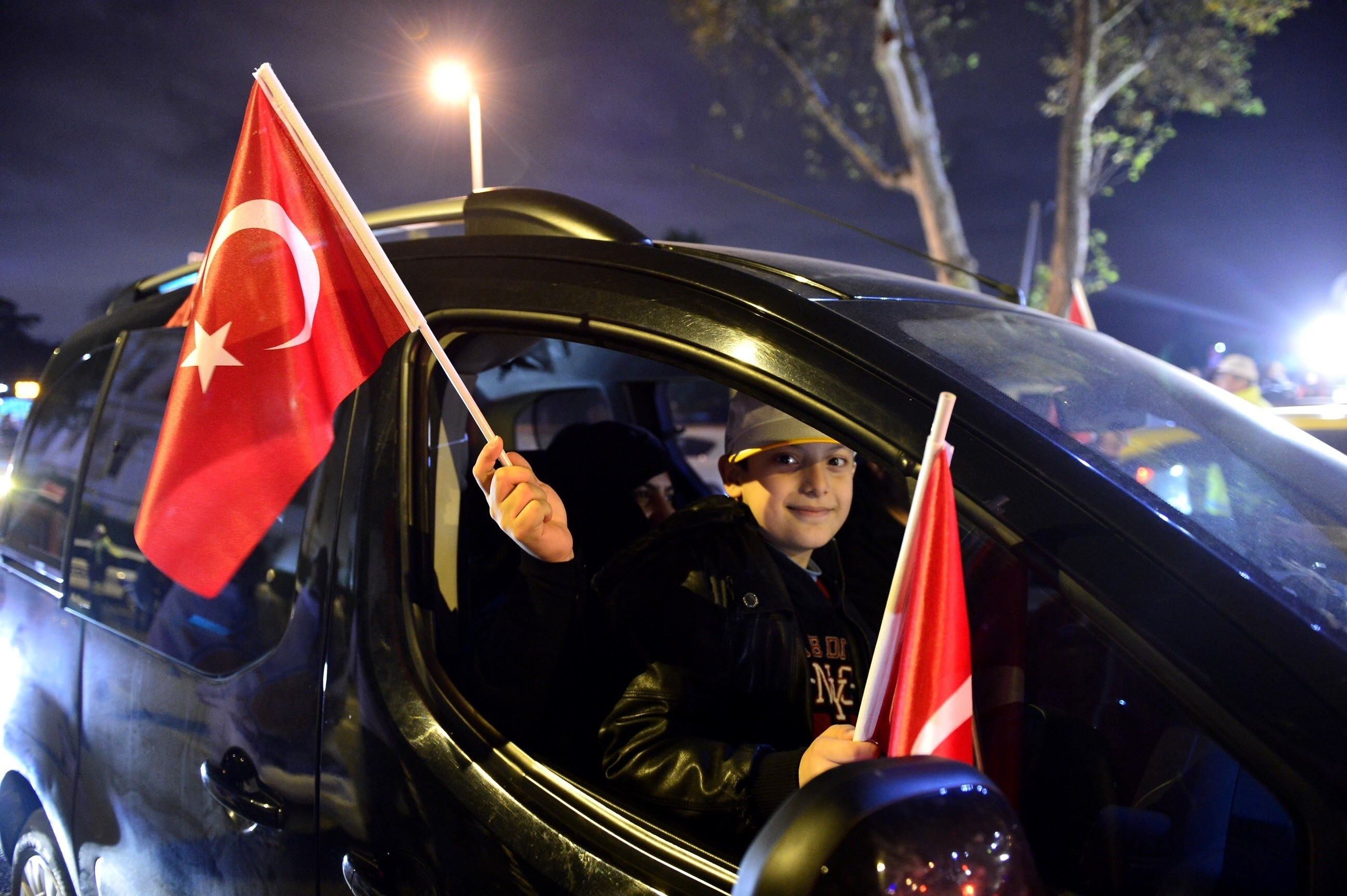 Turkey's Justice and Development (AK) Party supporters' celebration in Istanbul