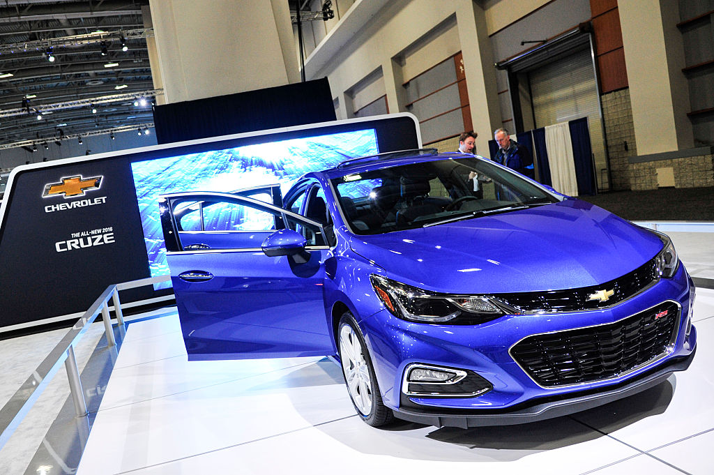 A Chevrolet 2016 Cruze at the Washington Auto Show  in Washington D.C. on Jan. 28, 2016.
