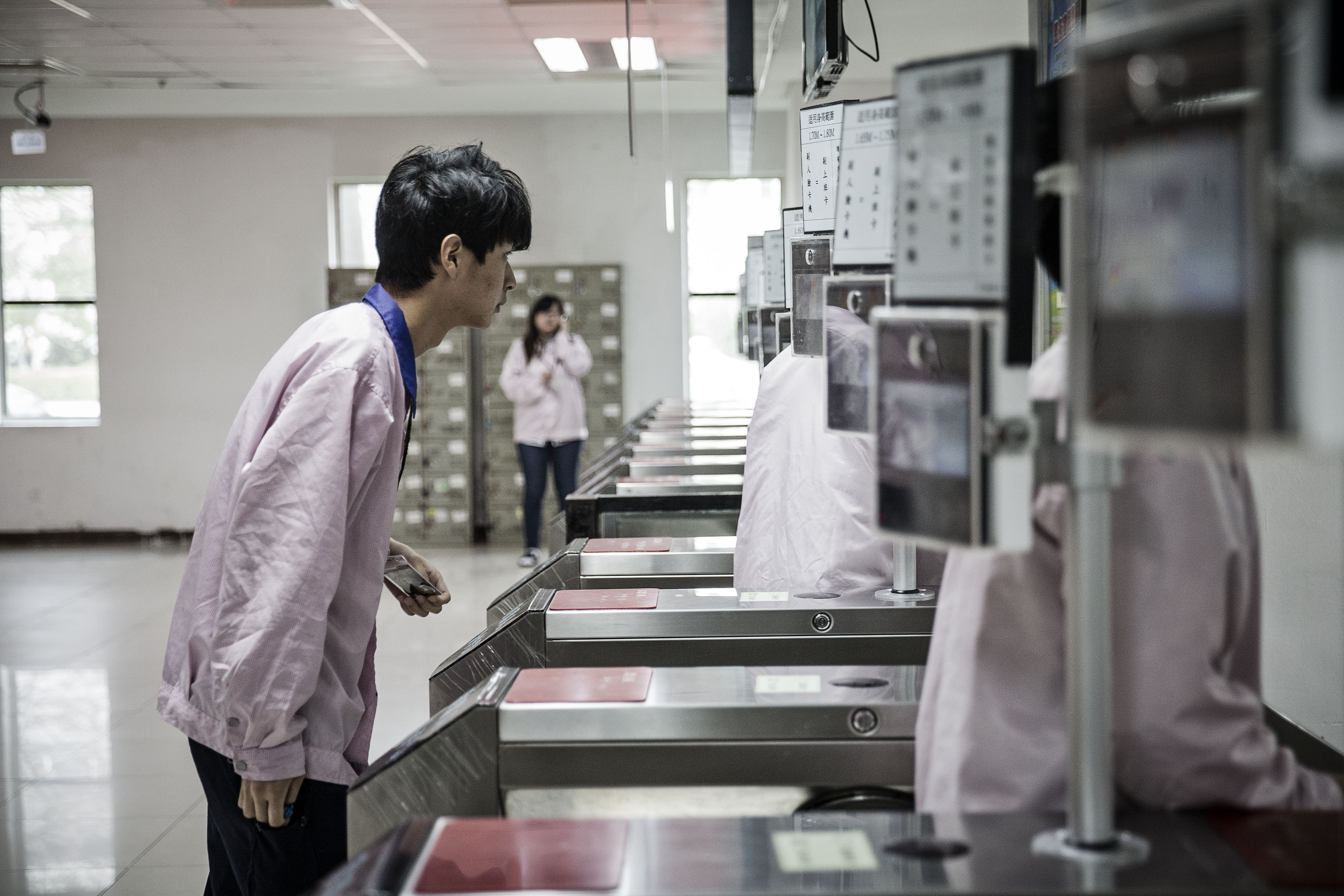 Workers Inside The Pegatron Corp. Factory in Shanghai