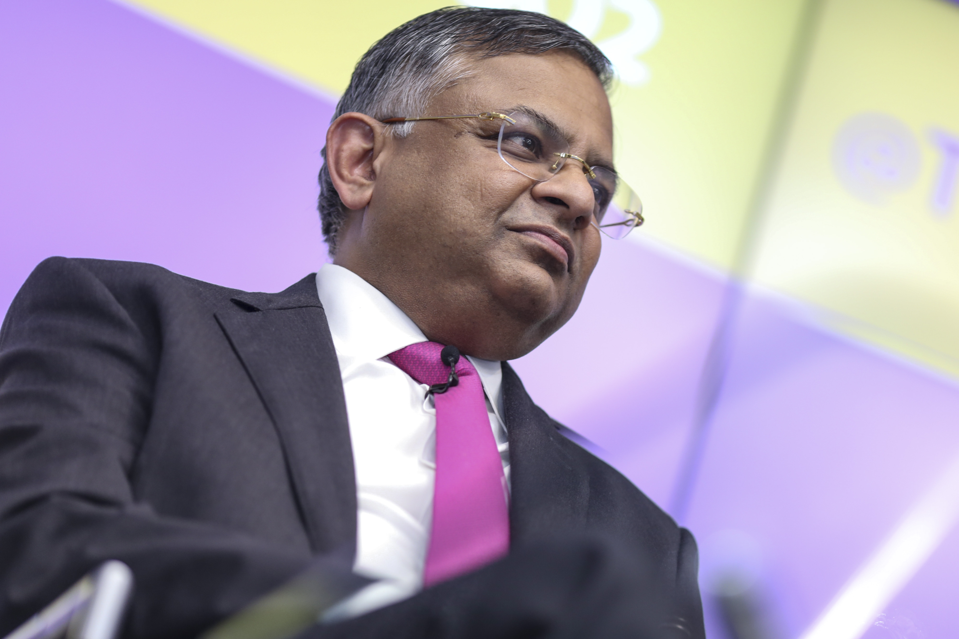 Tata Consultancy Services Ltd. Chief Executive Officer Natarajan Chandrasekaran Attends News Conference As Earns Released