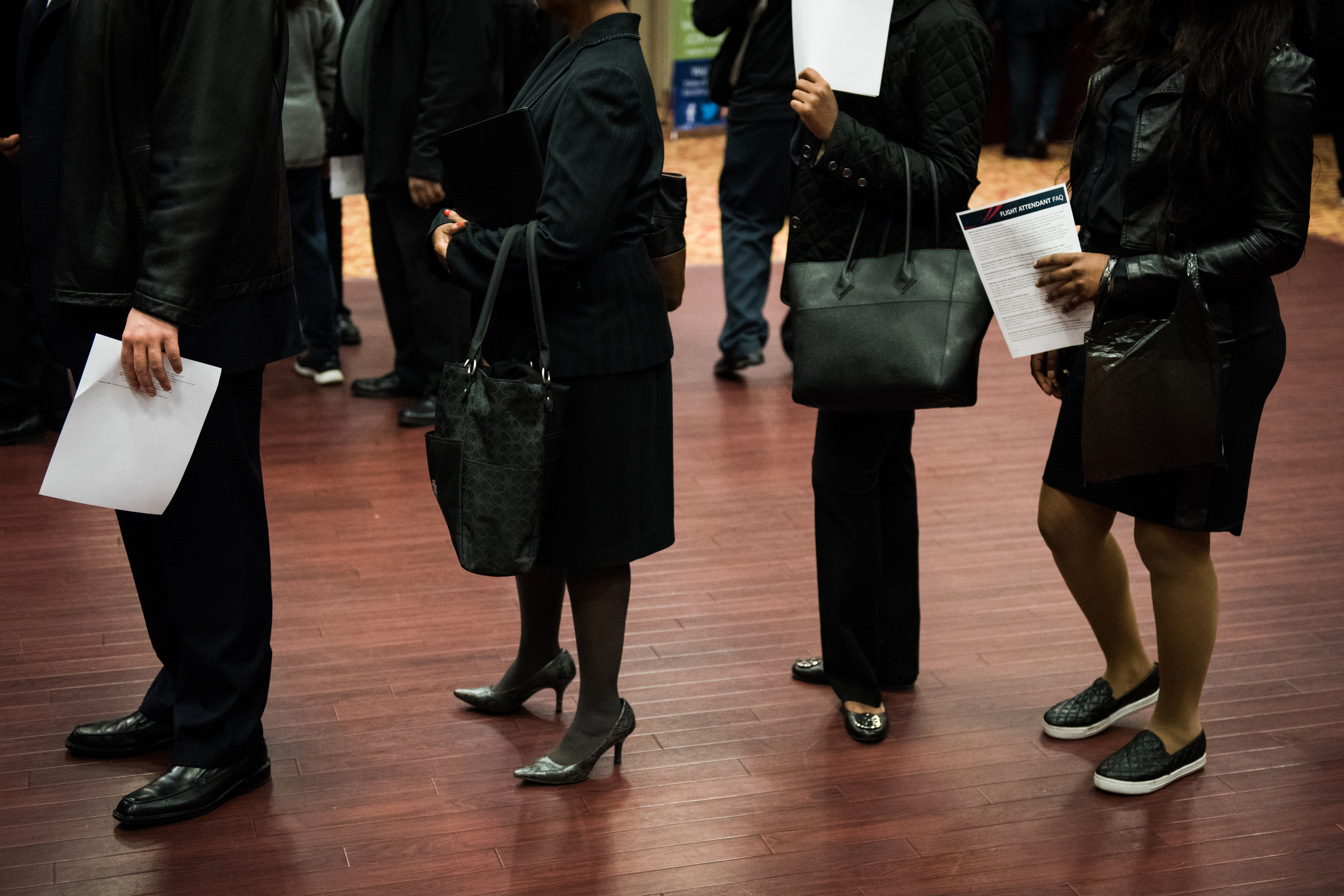 Inside A Choice Career Fair As Jobless Claims in U.S. Declined Ahead of Presidential Election