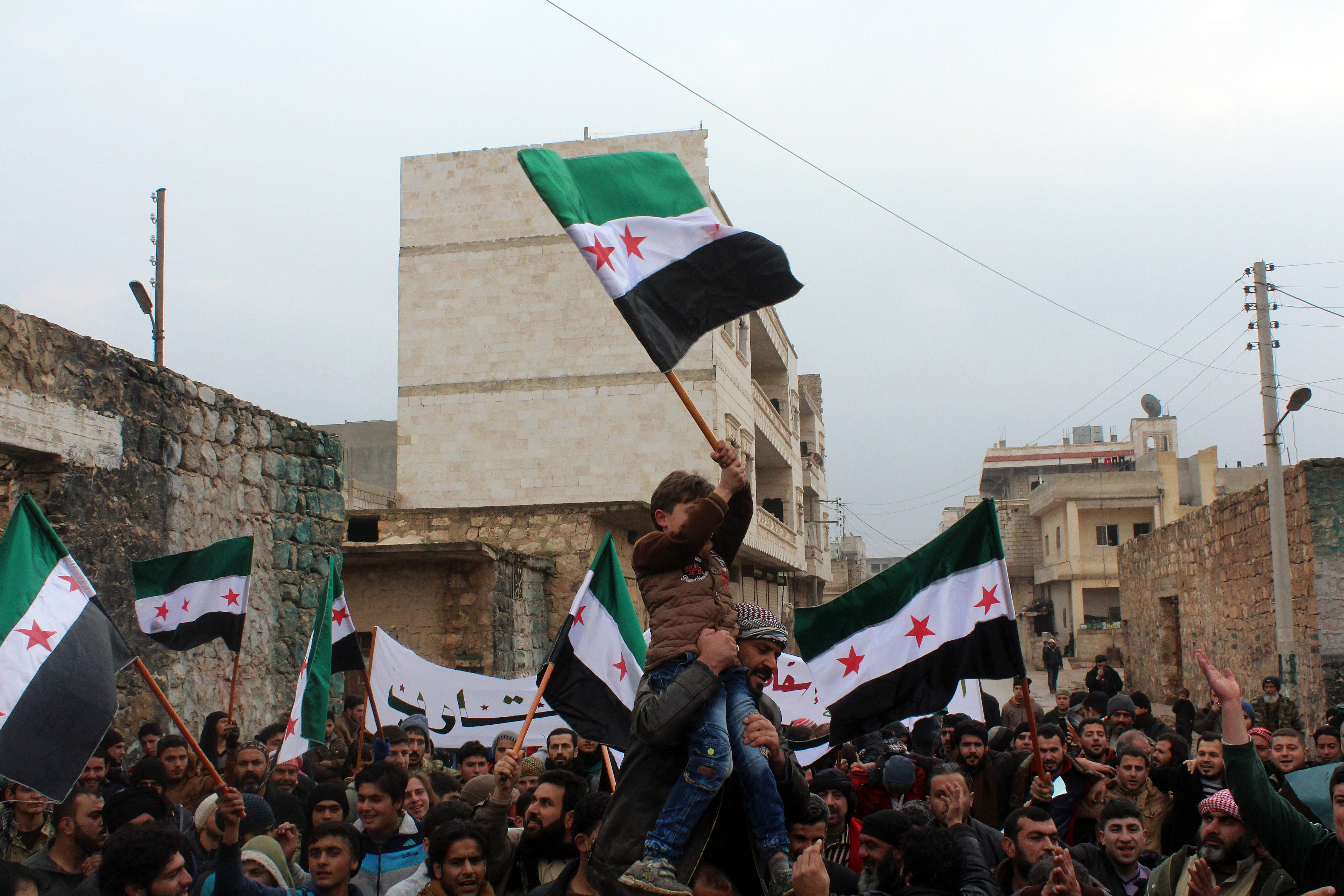 Demonstration in Damascus in demand of Unity