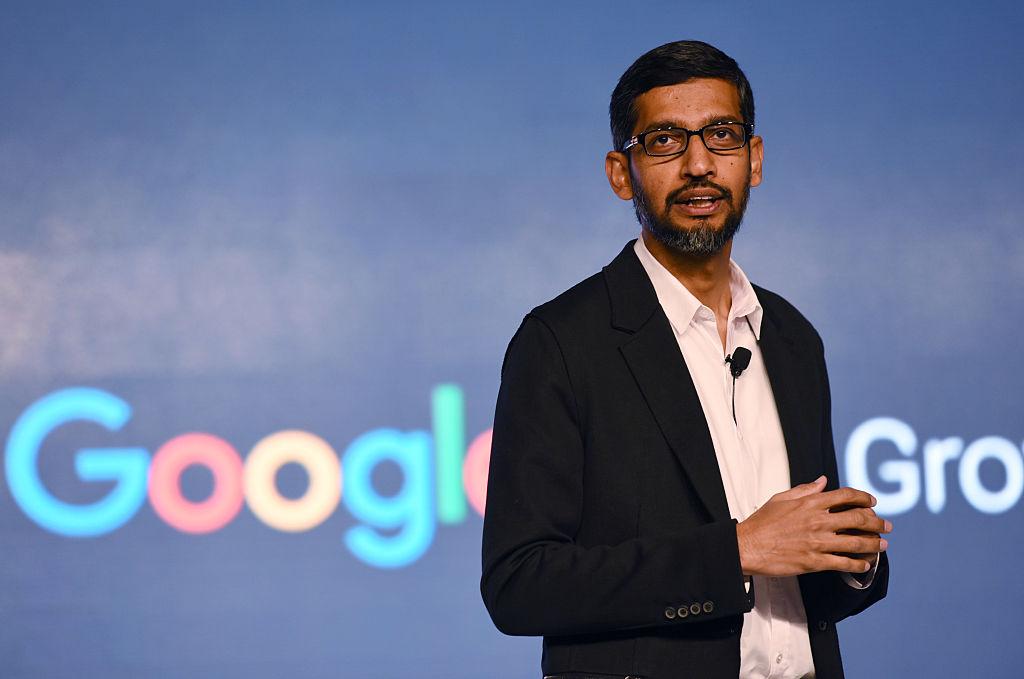 Google CEO Sundar Pichai at Taj Palace Hotel on Jan. 4, 2017 in New Delhi, India.