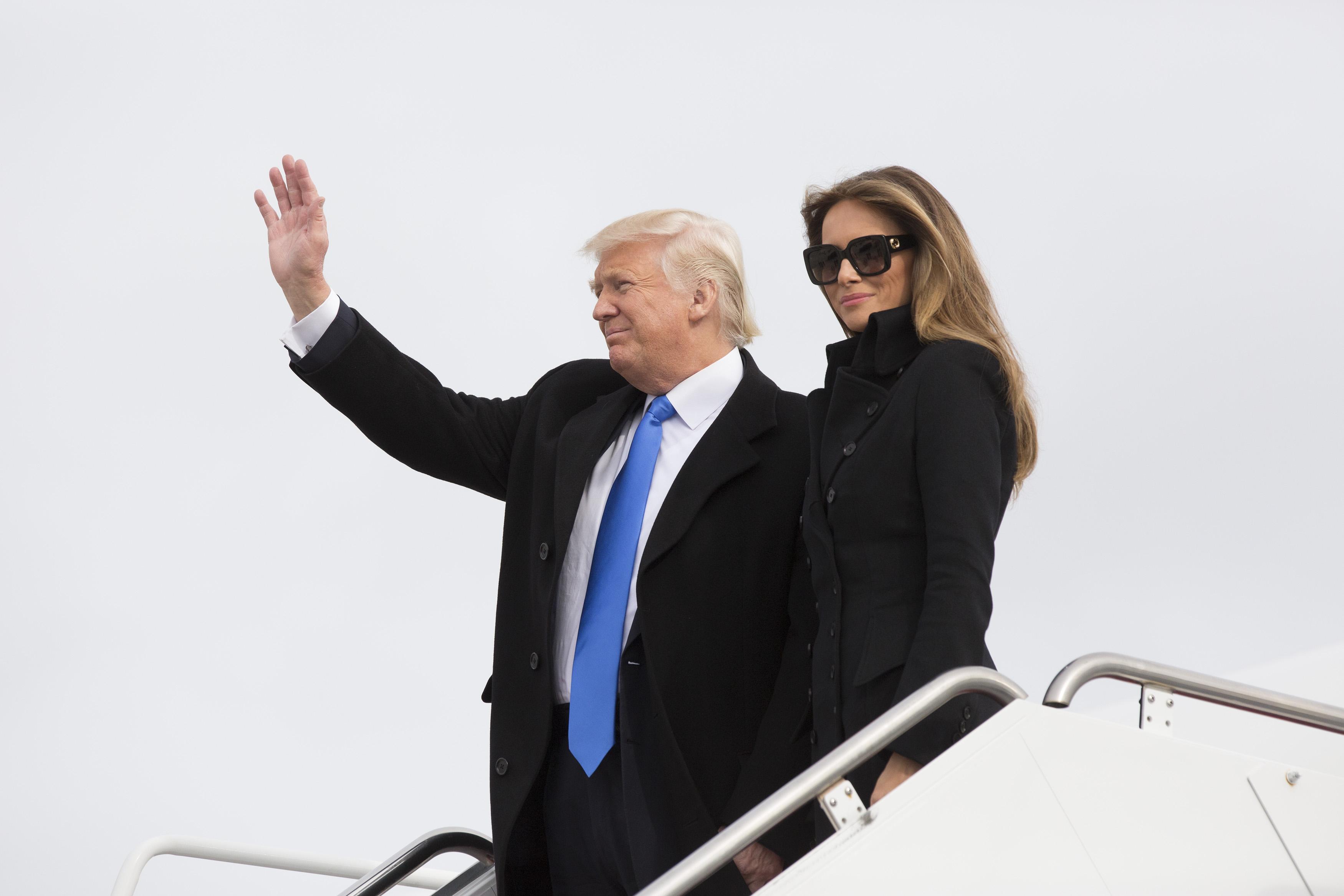 President-Elect Donald Trump Arrives In Washington
