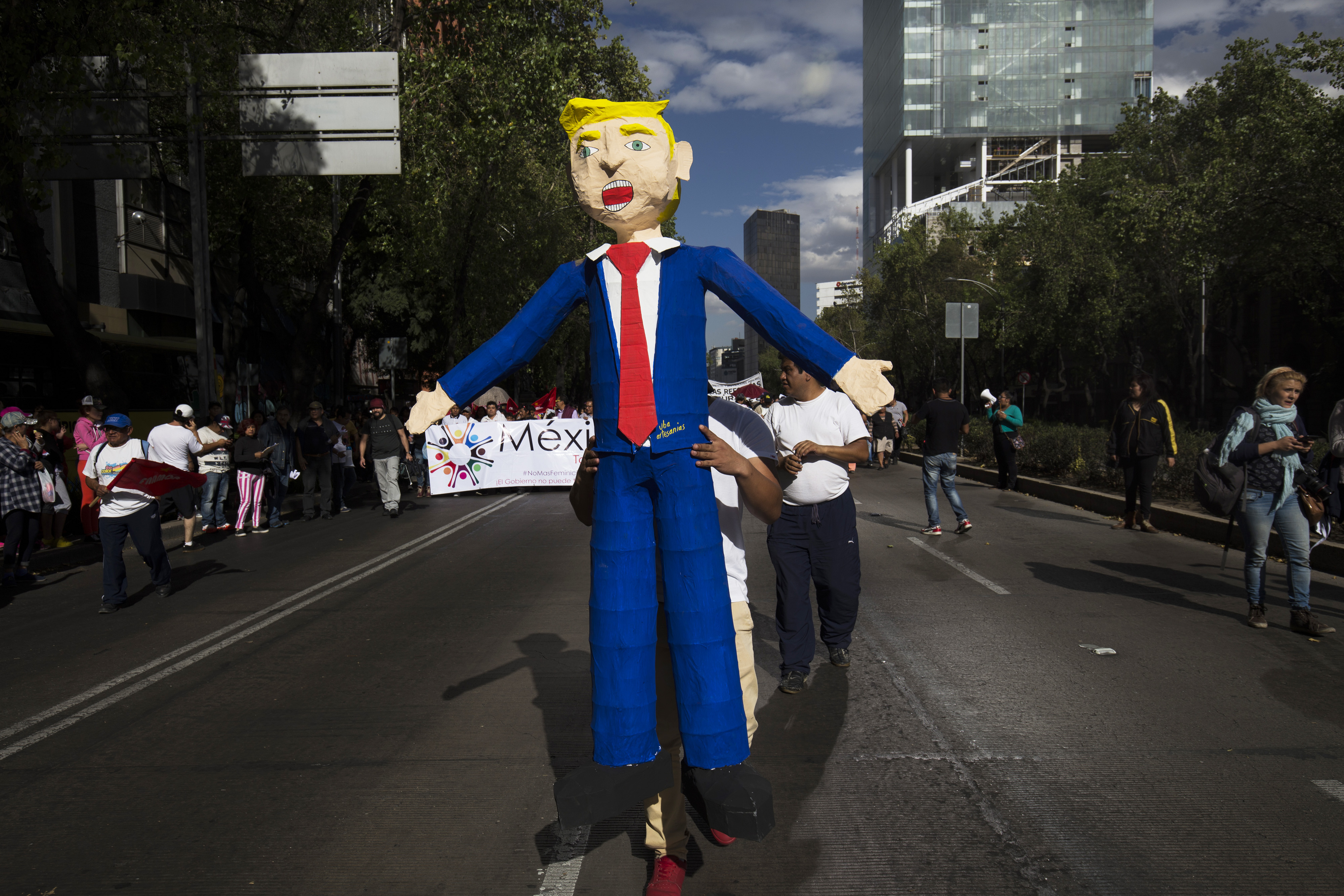 Reactions Around Mexico City As Donald Trump Is Sworn Into Office