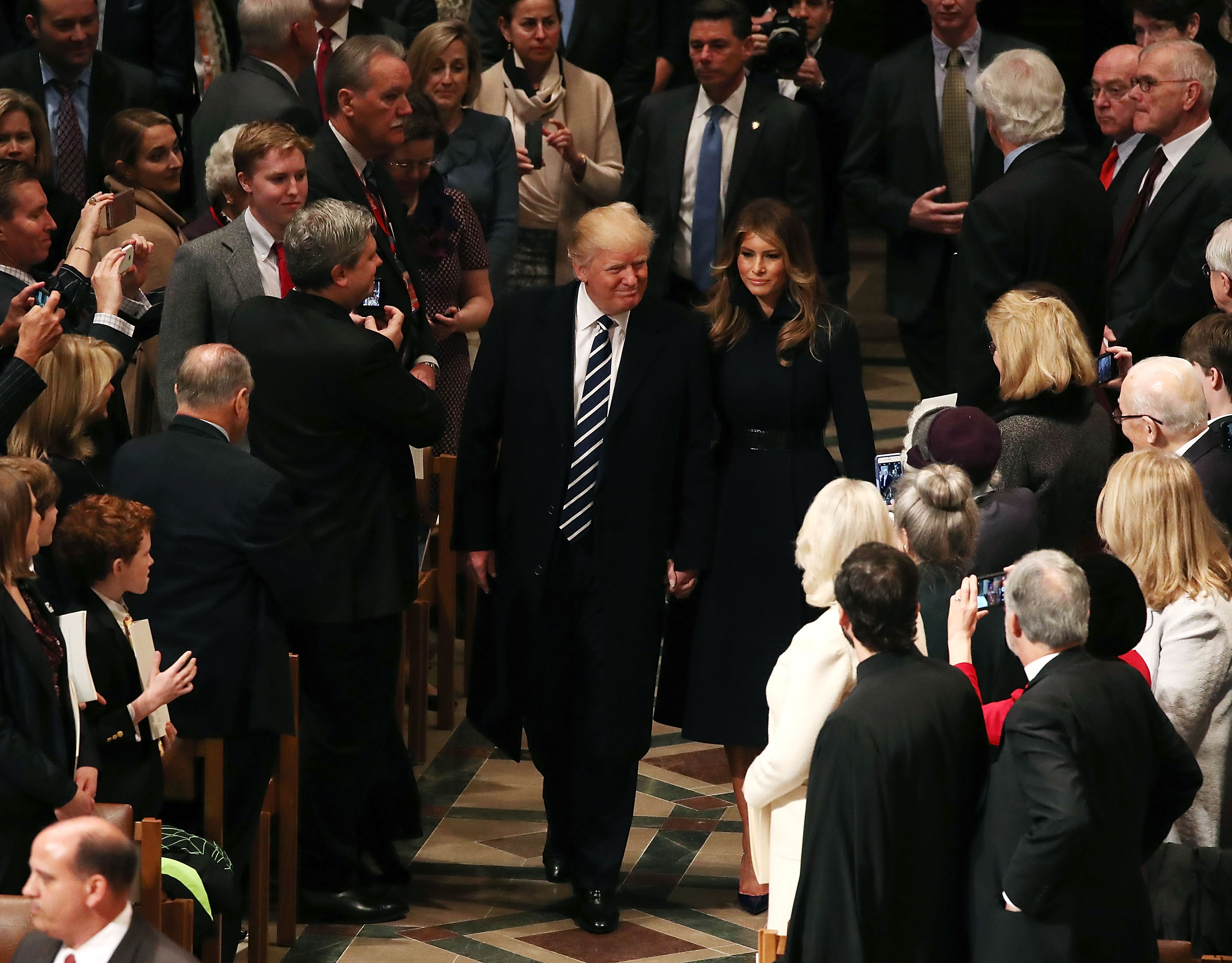 President Trump And Vice President Pence Attend National Prayer Service At The National Cathedral