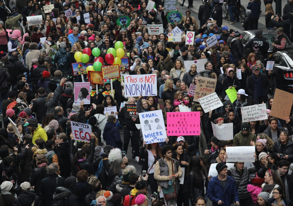 Women's March Held In New York City
