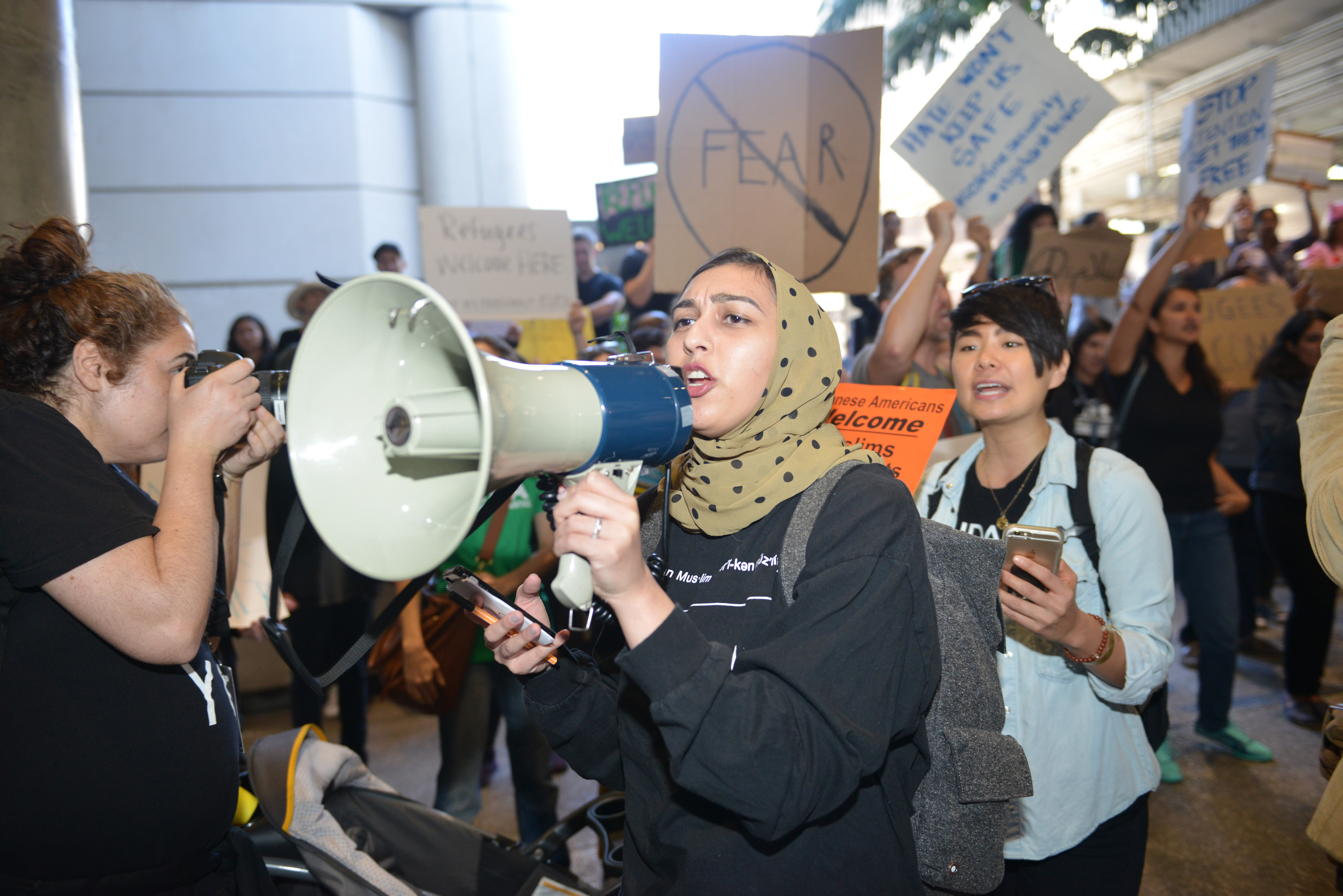 Protest against President Donald Trump in Los Angeles