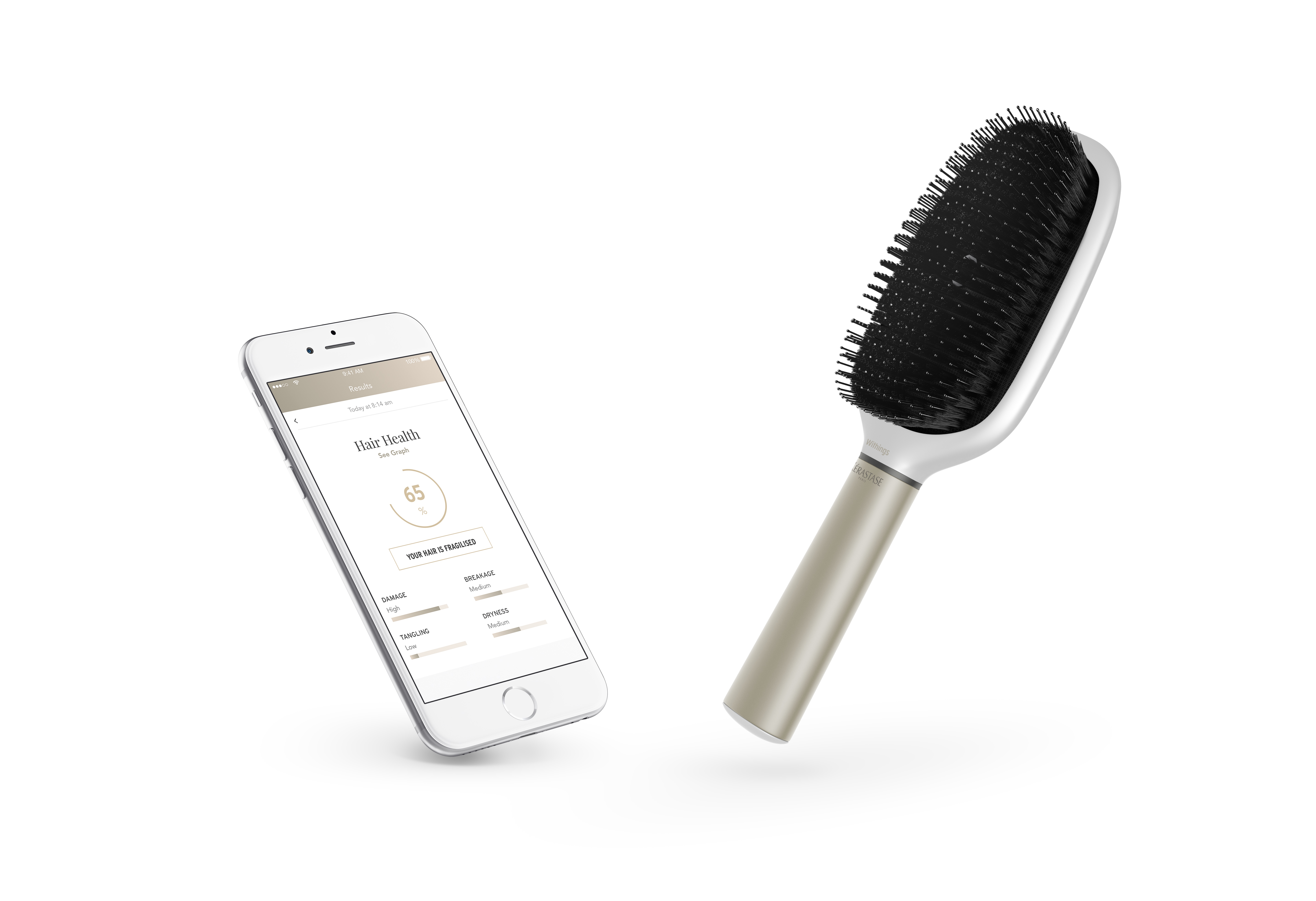 L'Oréal's Technology Incubator has unveiled a smart hairbrush at CES, a device that measures the quality of hair and the effects of different hair care routines.