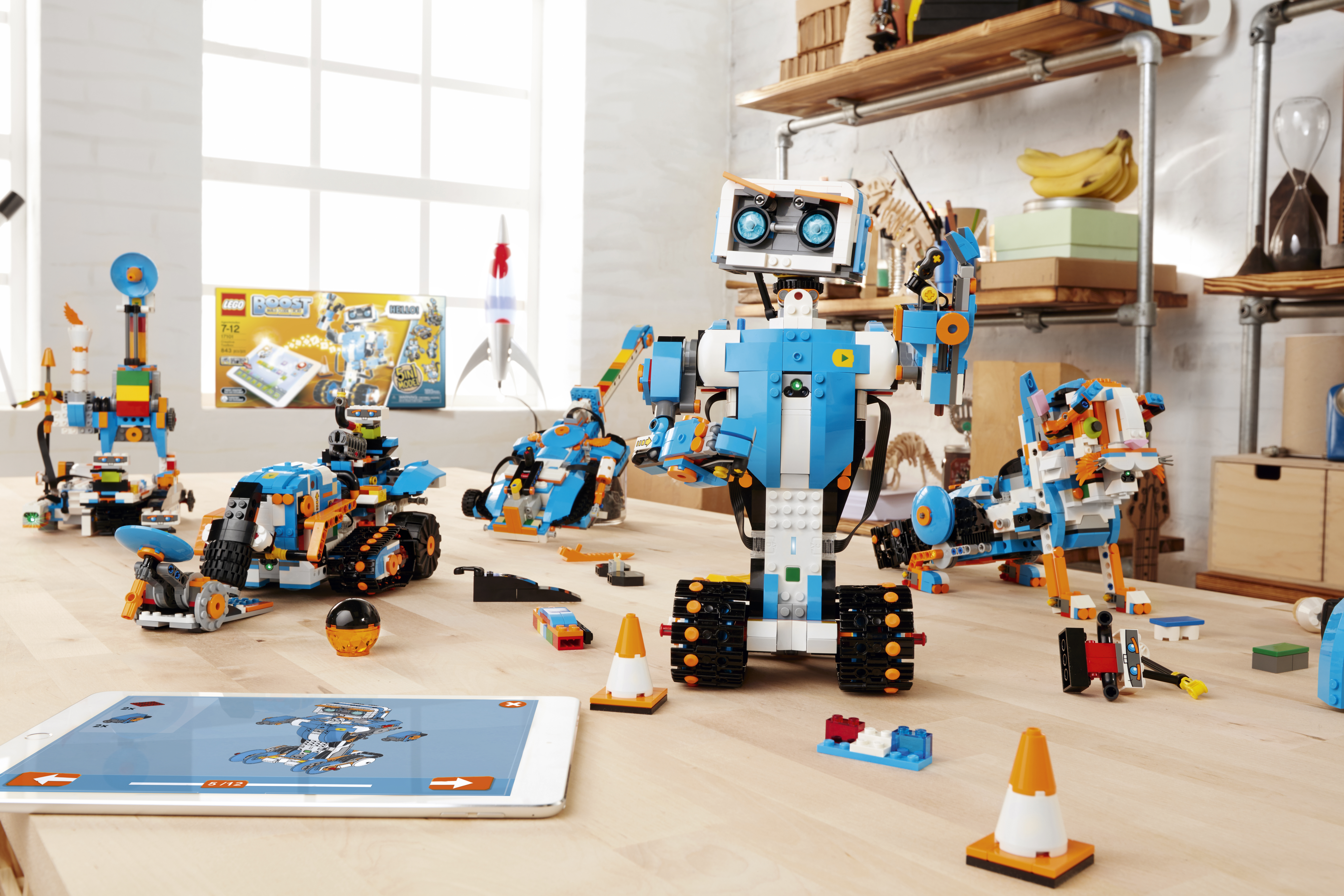 Lego debuts Lego Boost, a building and coding set, at the Consumer Electronics Show in Las Vegas.